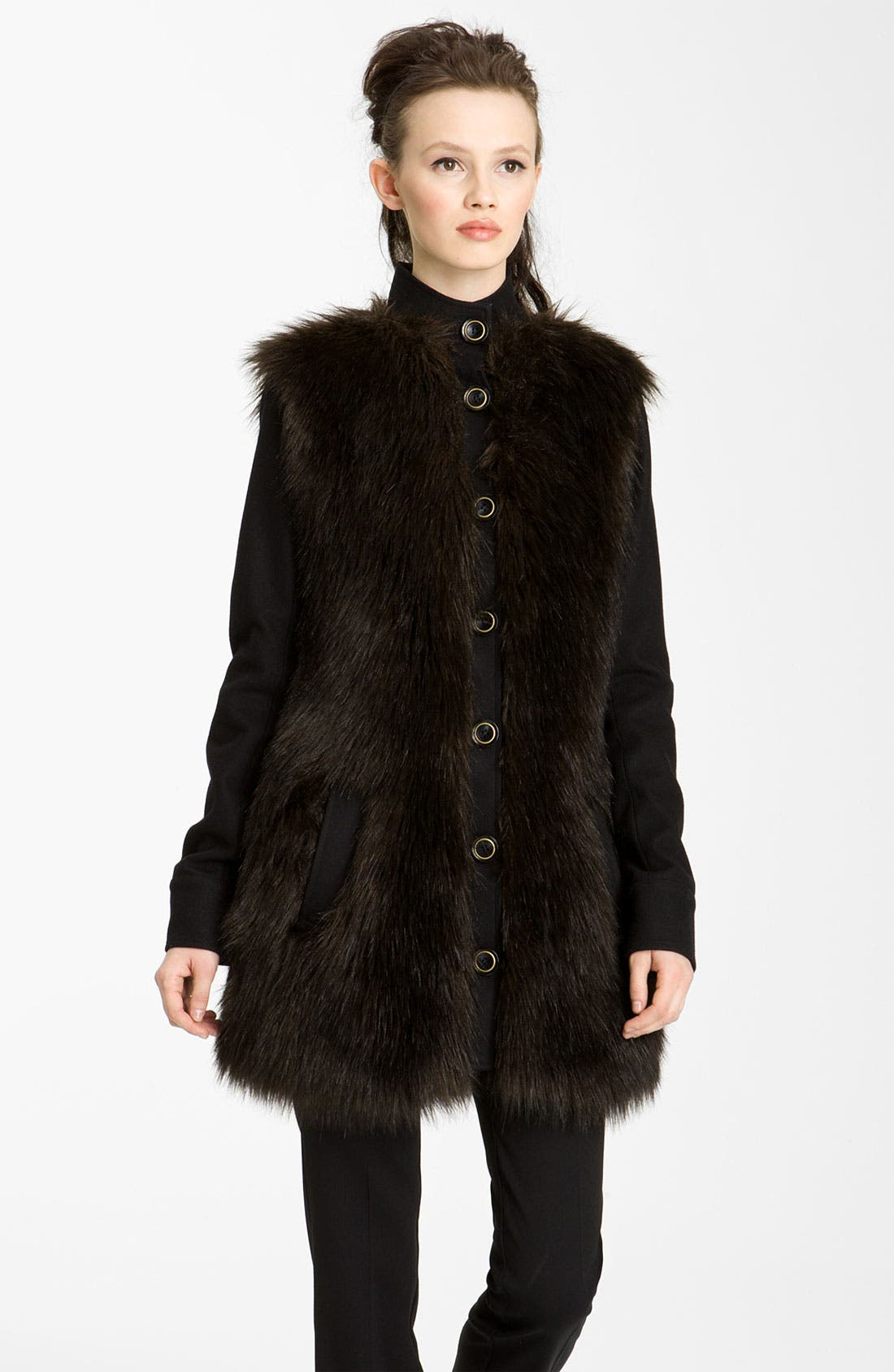 Alternate Image 1 Selected - Rachel Zoe 'Marianna' Faux Fur Jacket