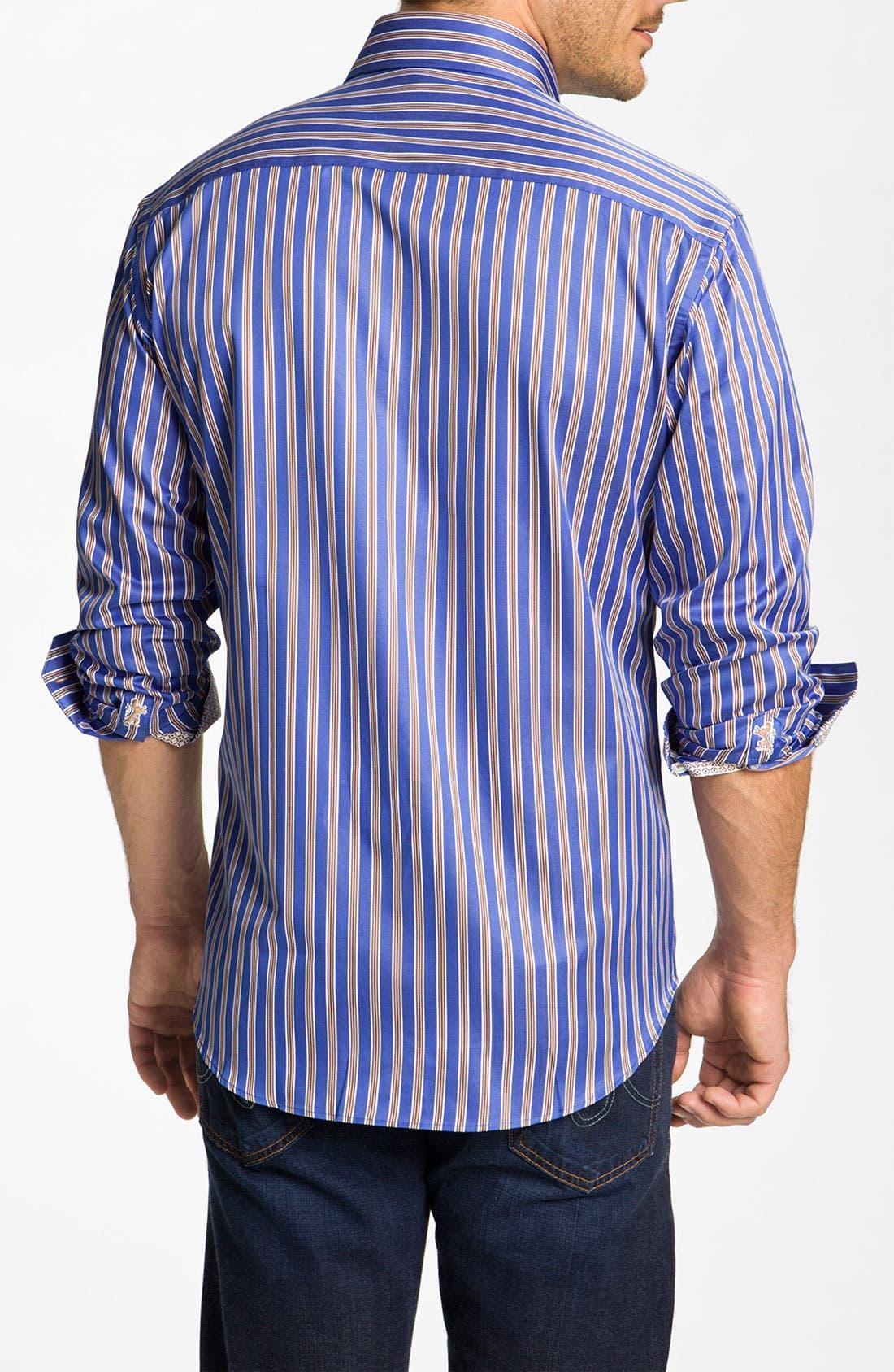 Alternate Image 3  - Bugatchi Uomo Shaped Fit Sport Shirt