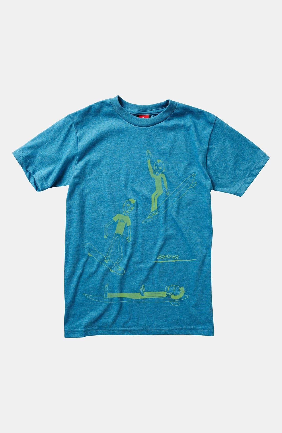 Alternate Image 1 Selected - Quiksilver 'Get Up' T-Shirt (Big Boys)