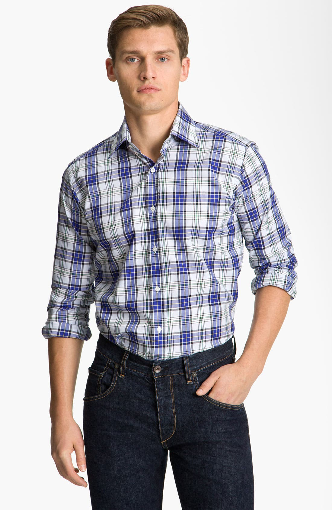 Alternate Image 1 Selected - Etro Check Plaid Shirt
