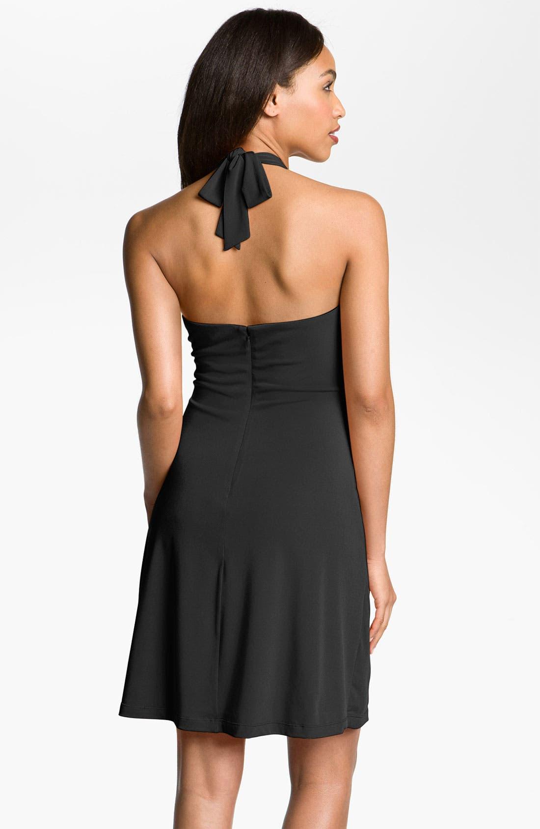 Alternate Image 2  - Calvin Klein Metal Ring Jersey Halter Dress