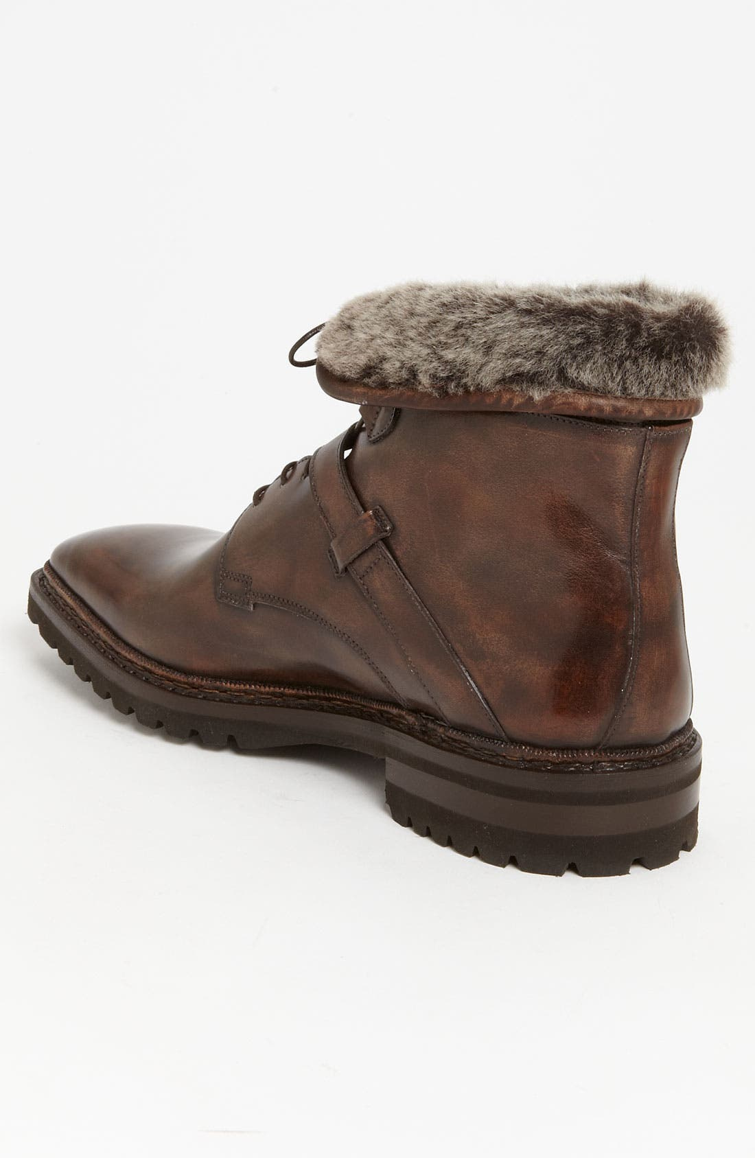 Alternate Image 2  - Santoni 'Quirion' Genuine Shearling Trimmed Boot