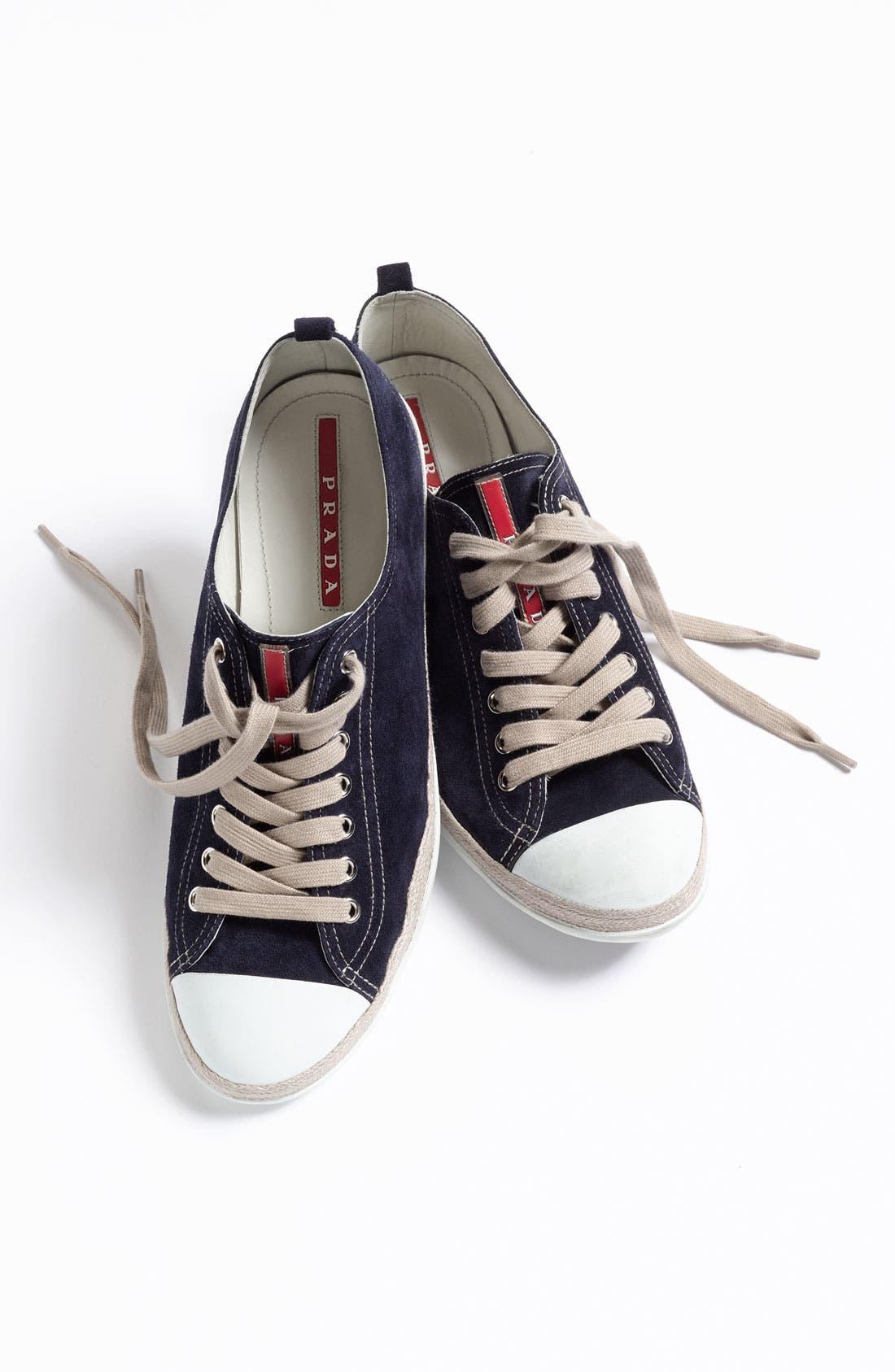 Alternate Image 5  - Prada Low Profile Espadrille Sneaker
