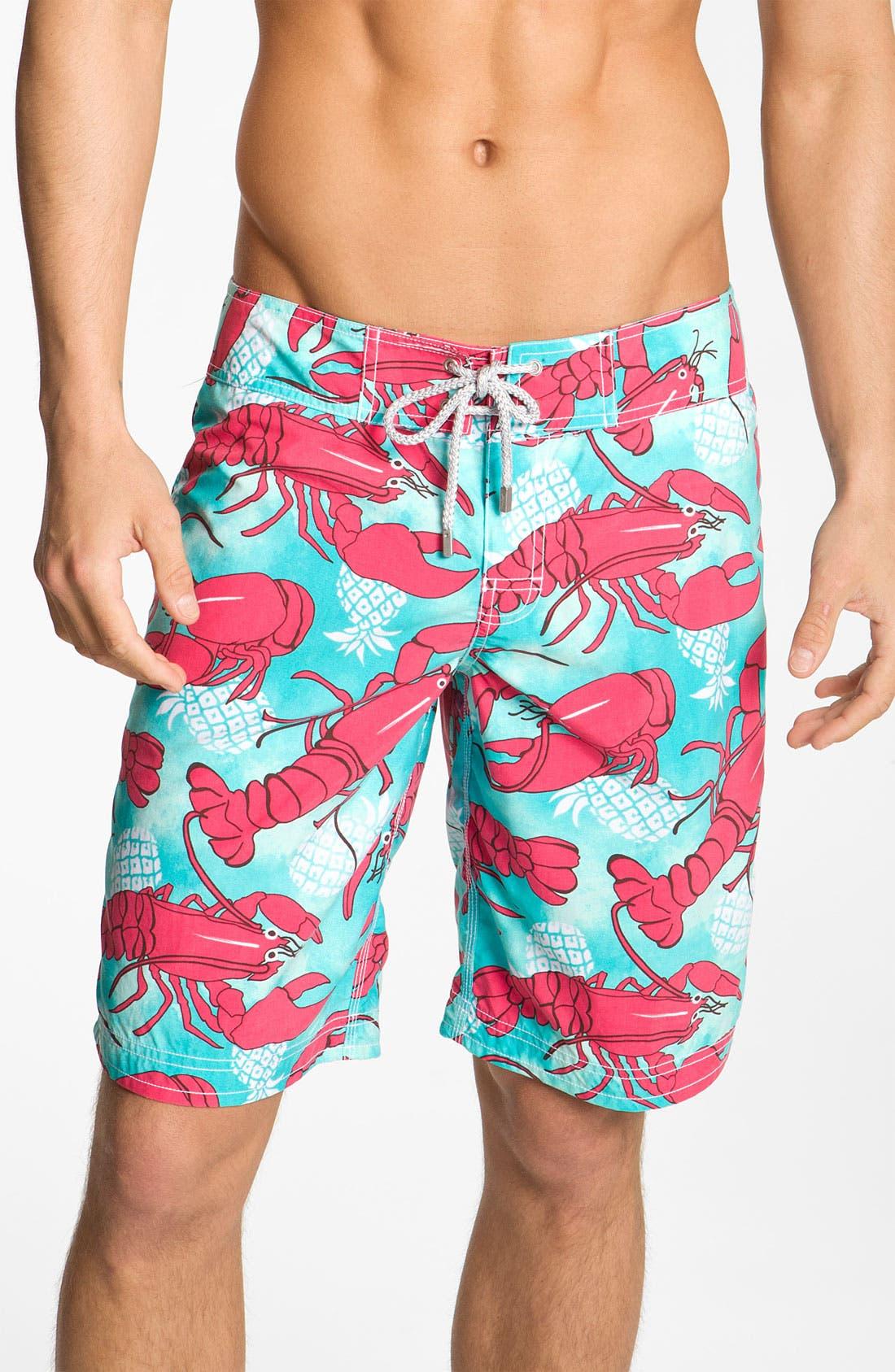 Main Image - Vilebrequin 'Ocean Surfer' Lobster Print Board Shorts