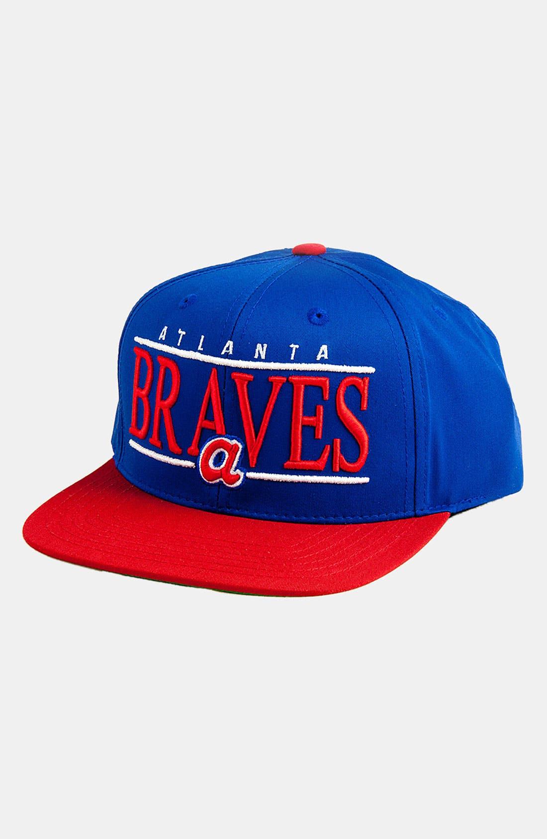 Main Image - American Needle 'Atlanta Braves - Nineties' Twill Snapback Baseball Cap