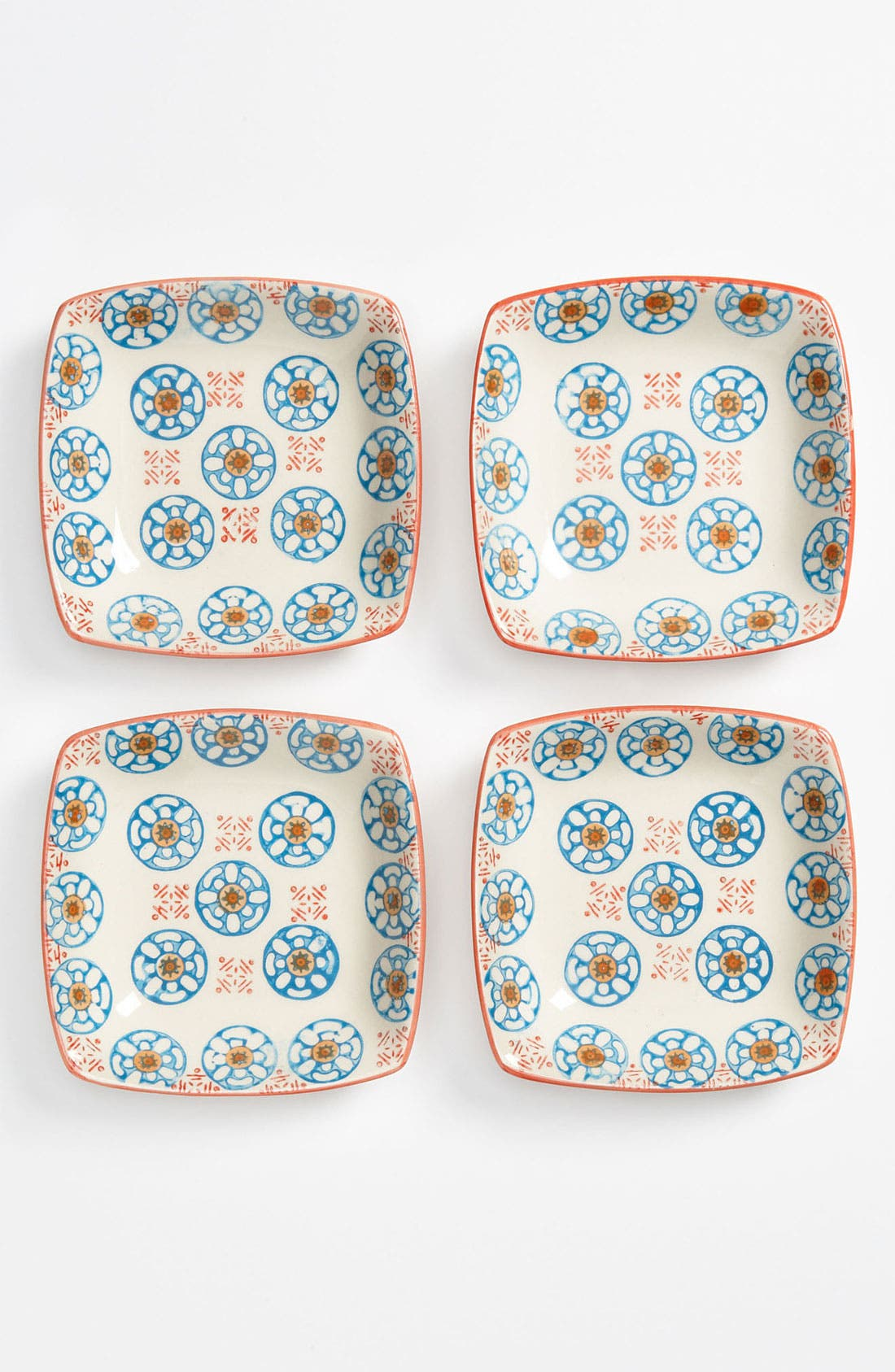 Alternate Image 1 Selected - Hand Painted Appetizer Dishes (Set of 4)