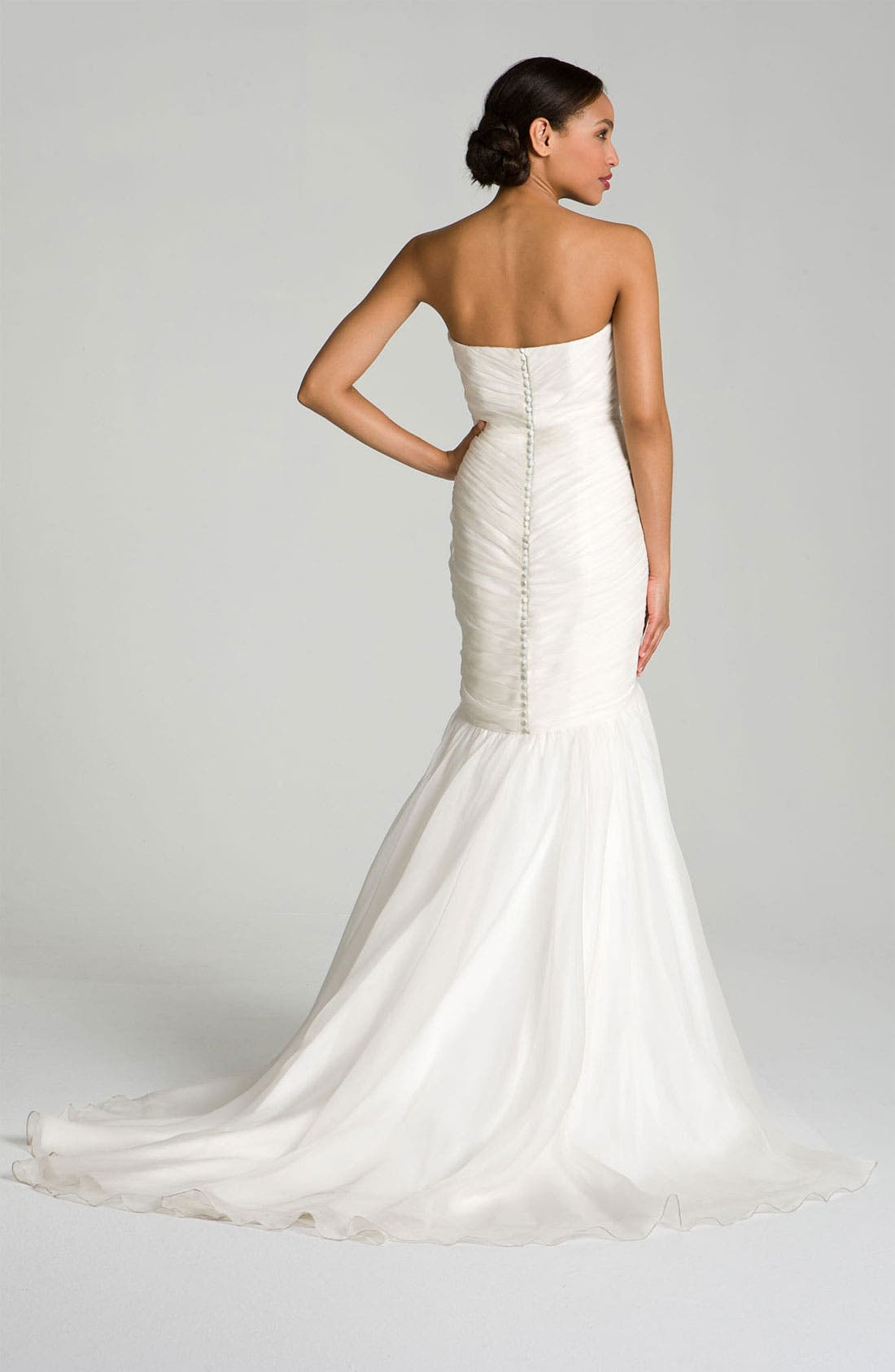 Alternate Image 2  - Theia Embroidered Silk Organza Mermaid Gown
