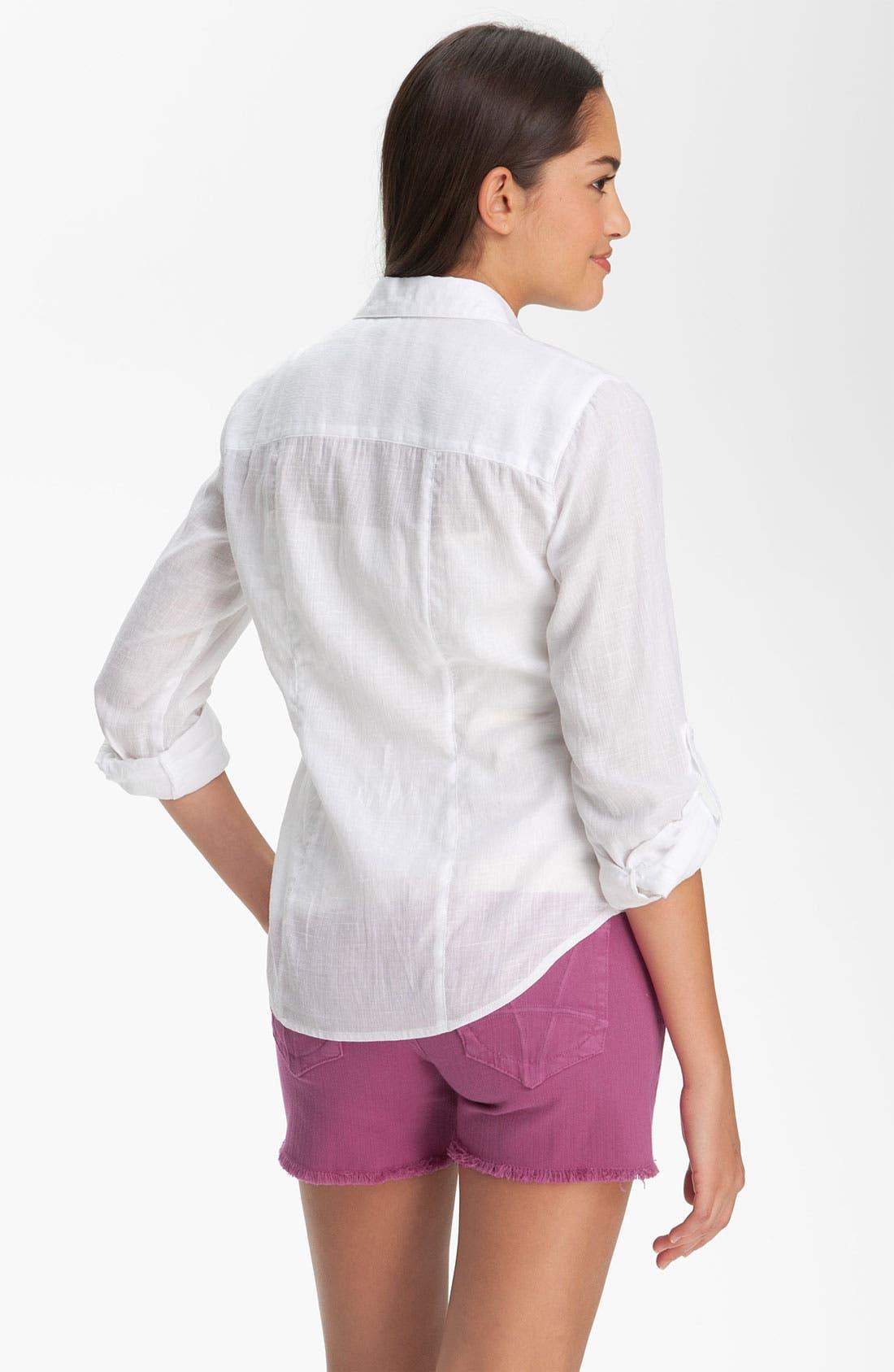 Alternate Image 2  - Sandra Ingrish Roll Sleeve Shirt