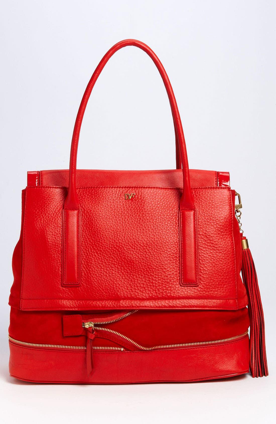 Alternate Image 4  - Diane von Furstenberg 'Harper Laurel' Leather Shoulder Bag