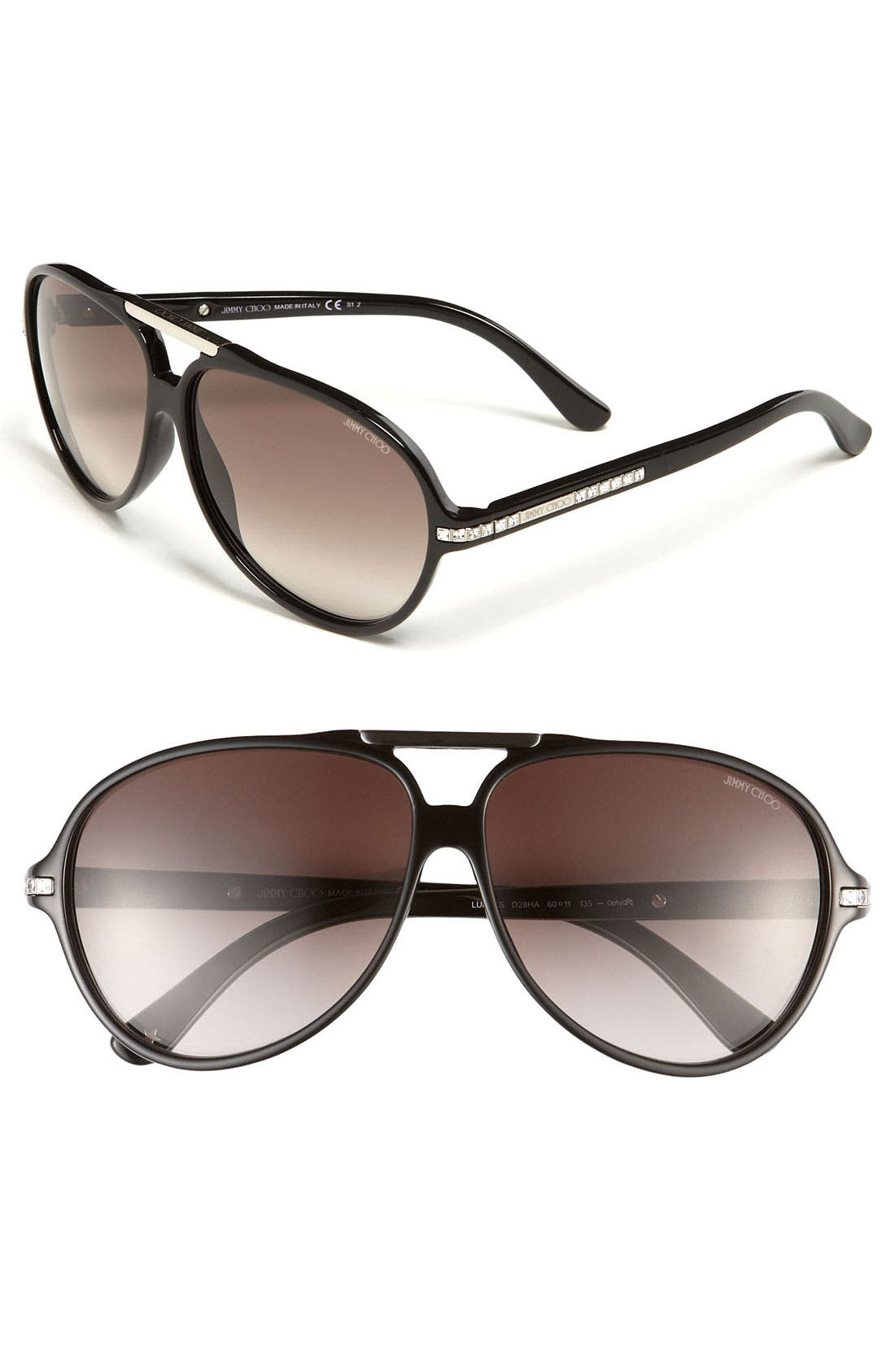 Alternate Image 1 Selected - Jimmy Choo Aviator Sunglasses