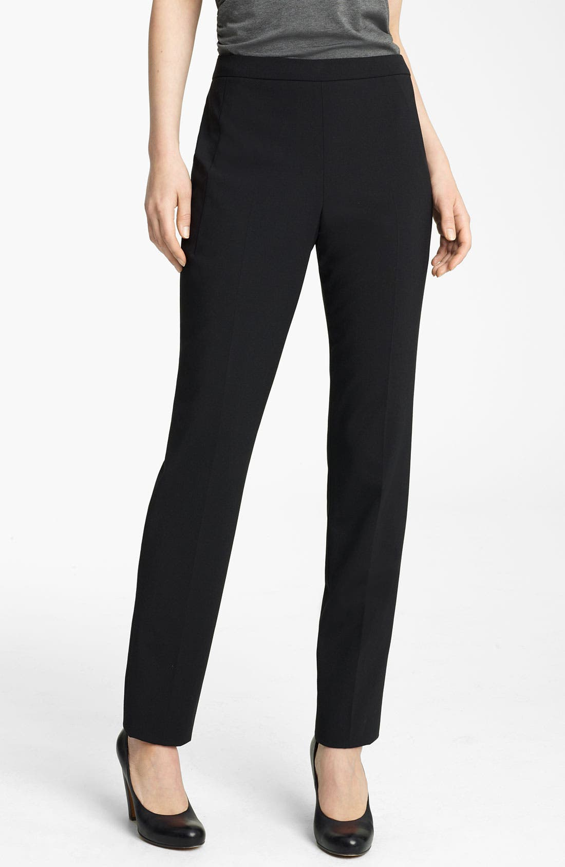 Main Image - Lida Baday Slim Stretch Wool Pants