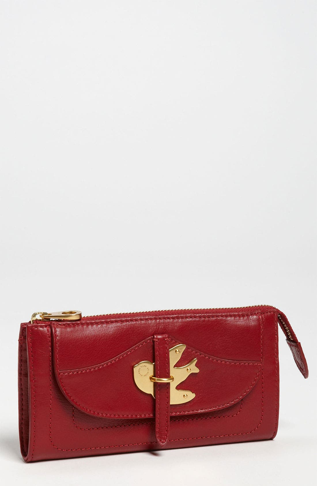 Alternate Image 1 Selected - MARC BY MARC JACOBS 'Petal to the Metal' Zip Clutch Wallet
