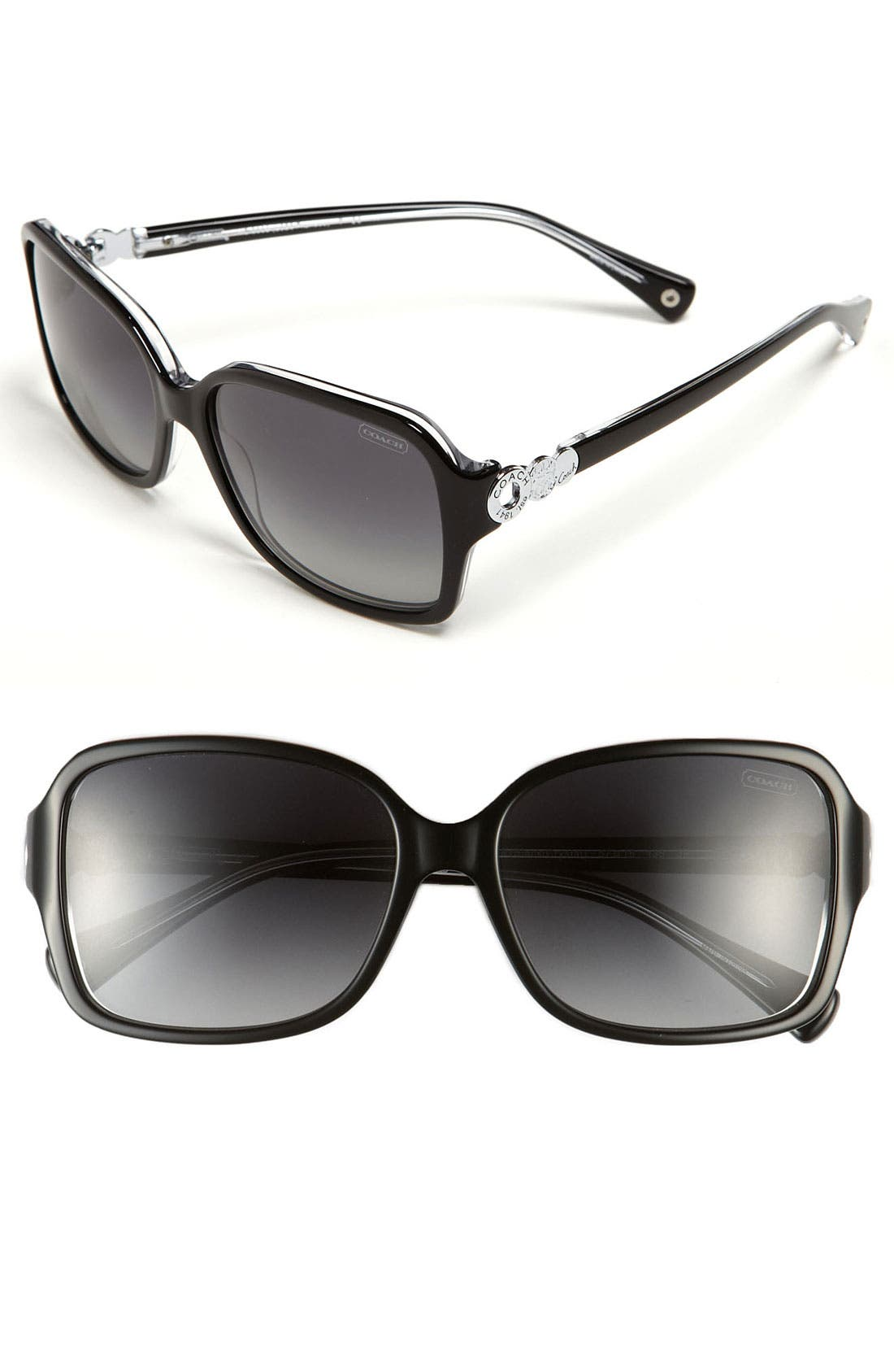Alternate Image 1 Selected - COACH 'Frances' Oversized Polarized Sunglasses