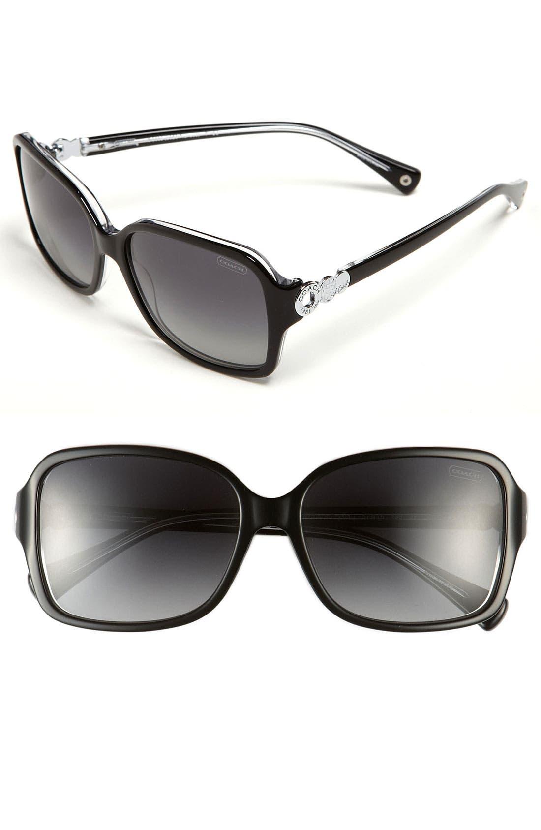 Main Image - COACH 'Frances' Oversized Polarized Sunglasses