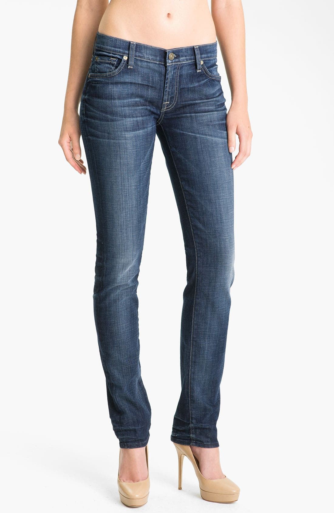 Main Image - 7 For All Mankind® 'Roxanne' Straight Leg Jeans (Royal Mountain Valley)