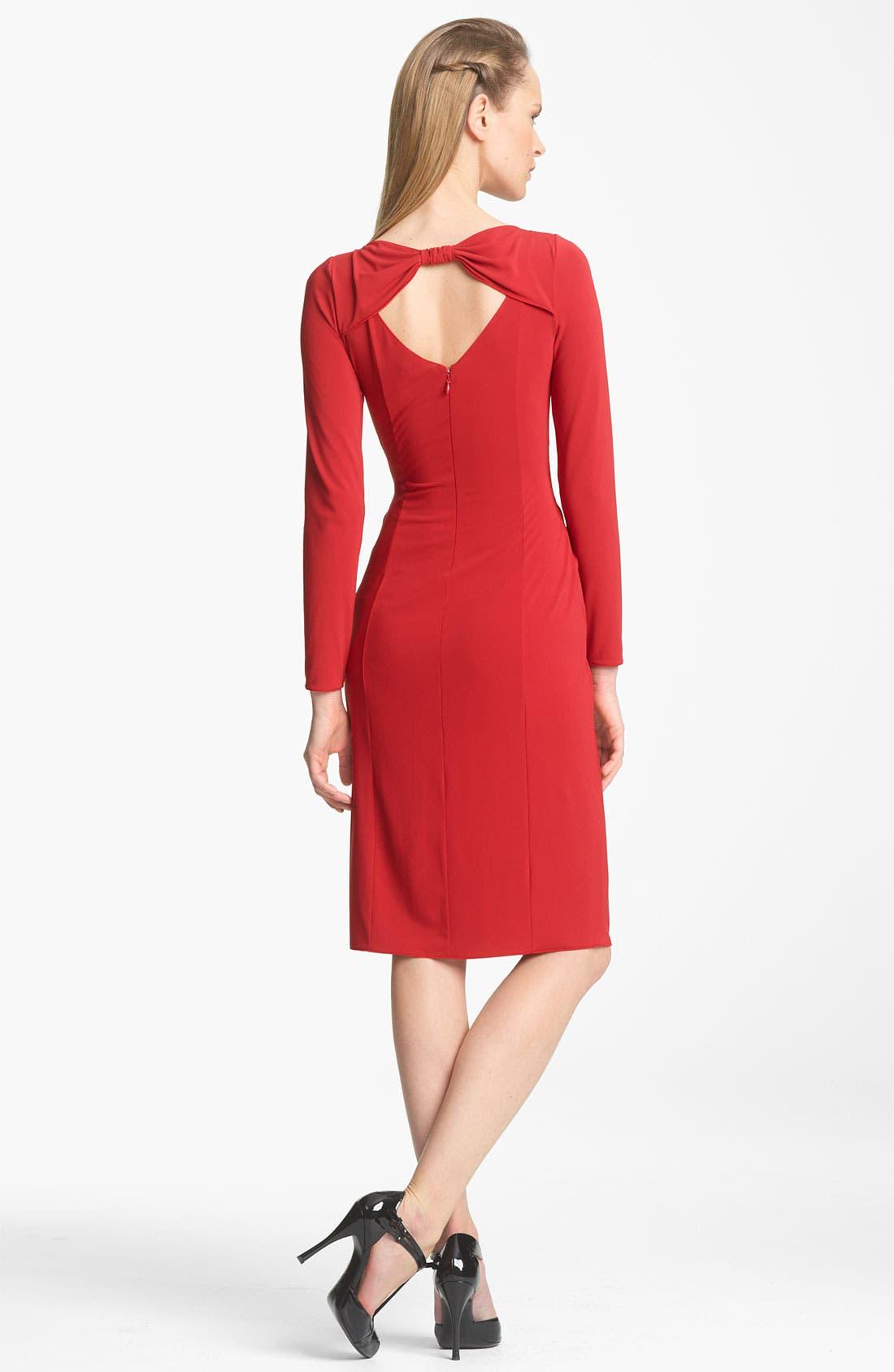 Alternate Image 2  - Armani Collezioni Cutout Back Matte Jersey Dress