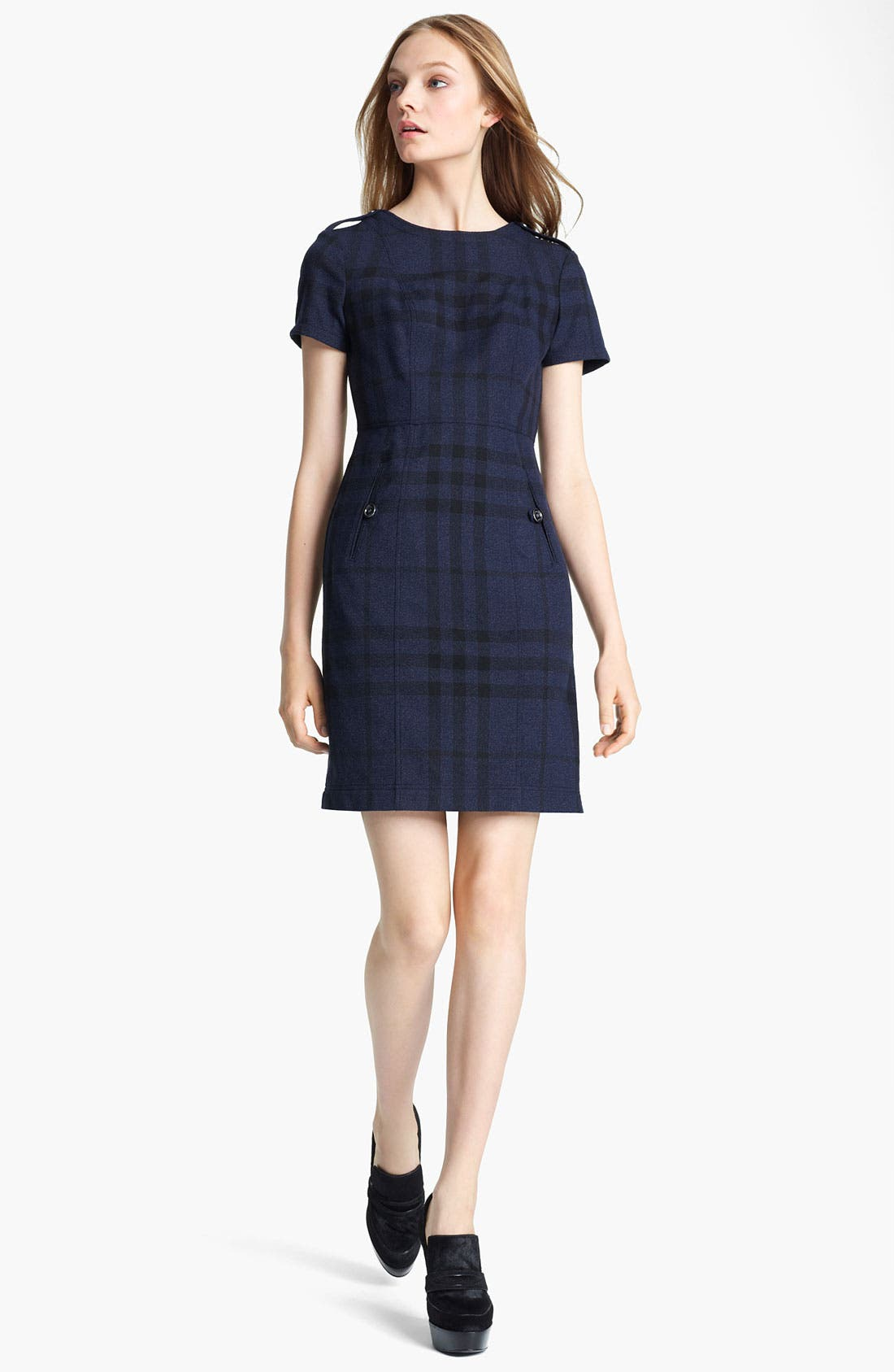 Main Image - Burberry Check Print Dress