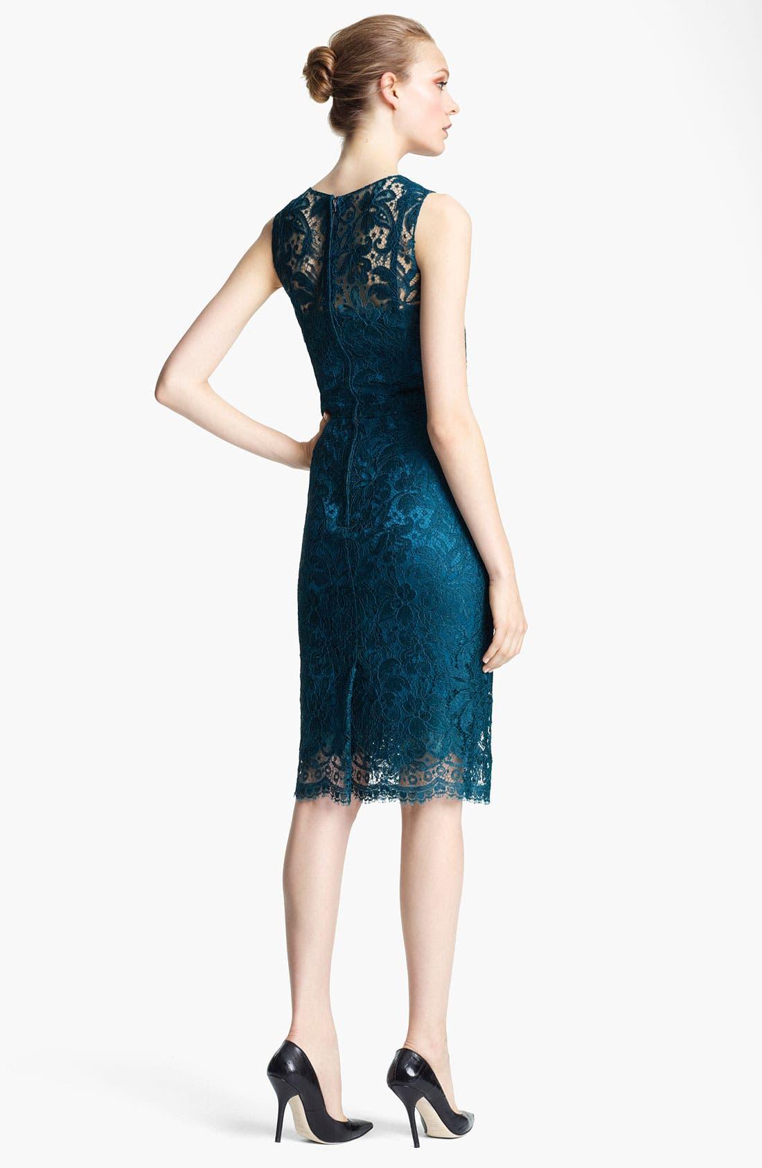 Alternate Image 2  - Dolce&Gabbana Lace Pencil Dress