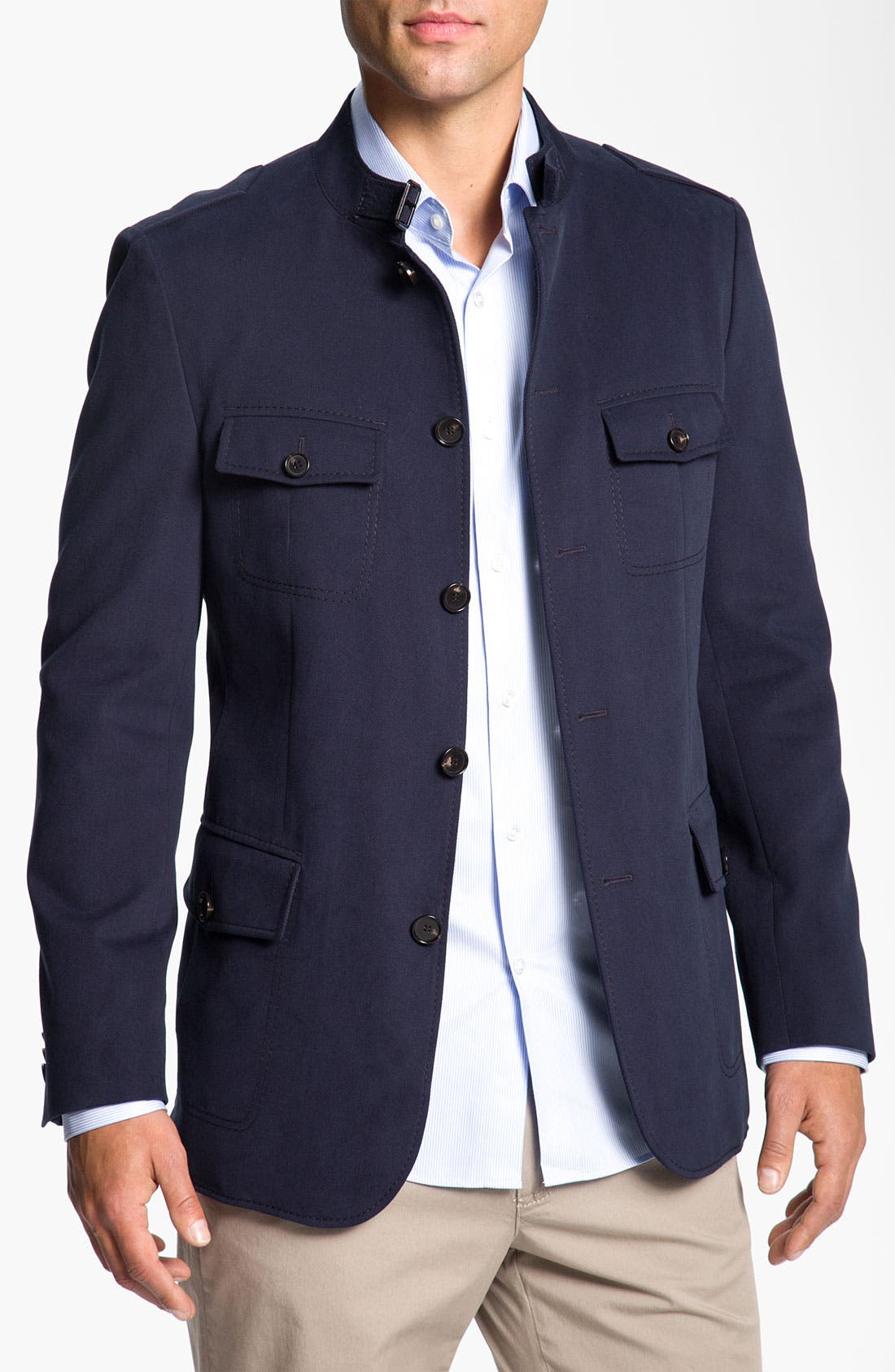 Alternate Image 1 Selected - BOSS Black 'Harper' Trim Fit Five Button Field Jacket
