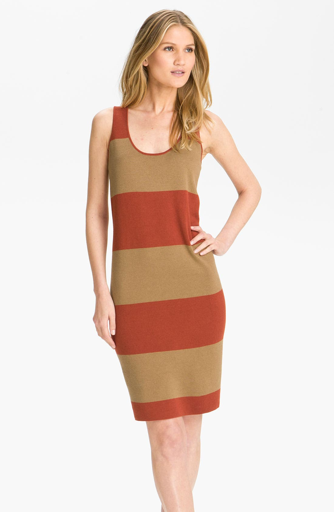 Main Image - Magaschoni Reversible Colorblock Dress