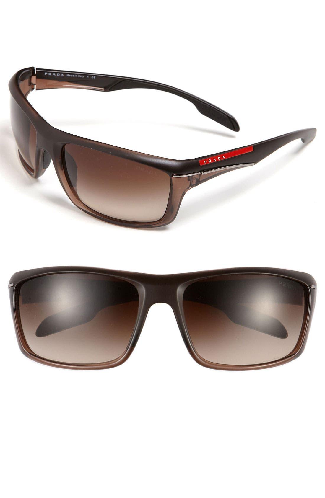 Alternate Image 1 Selected - Prada 'Sport Wrap' 63mm Rectangular Sunglasses