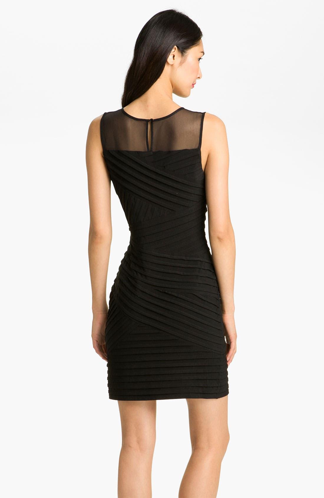 Alternate Image 2  - Calvin Klein Illusion Yoke Pleated Jersey Dress