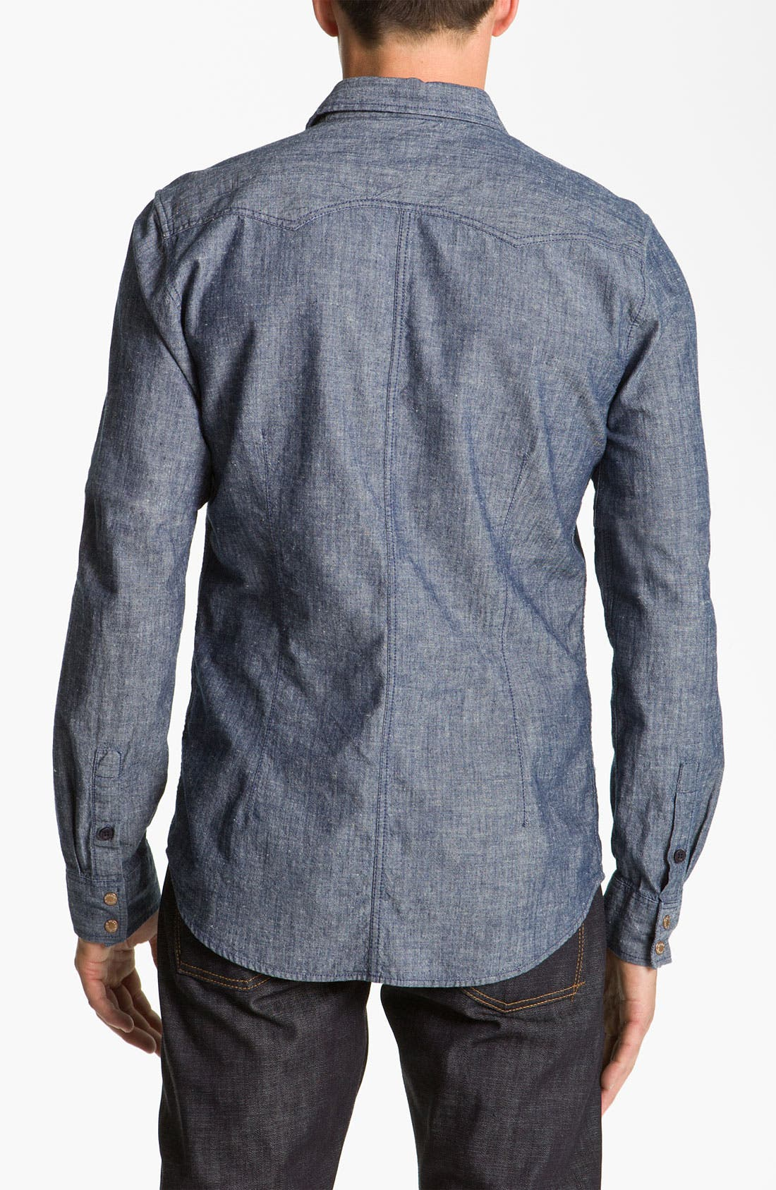 Alternate Image 2  - Nudie 'Gusten' Chambray Shirt