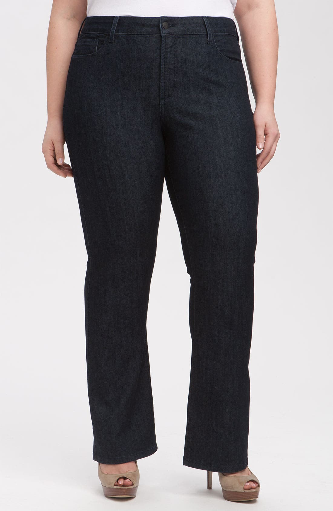 Alternate Image 1 Selected - NYDJ 'Barbara' Stretch Bootcut Jeans (Dark Enzyme) (Petite Plus Size)