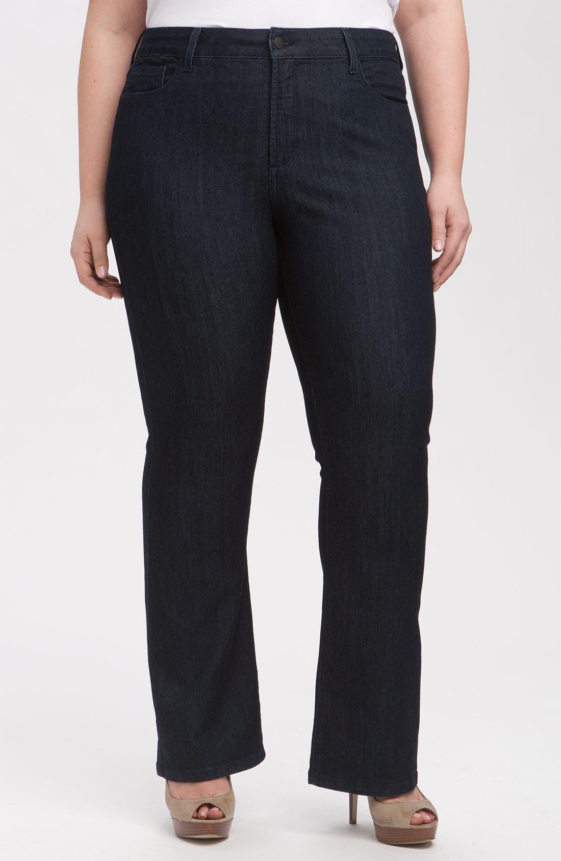 Main Image - NYDJ 'Barbara' Stretch Bootcut Jeans (Dark Enzyme) (Petite Plus Size)