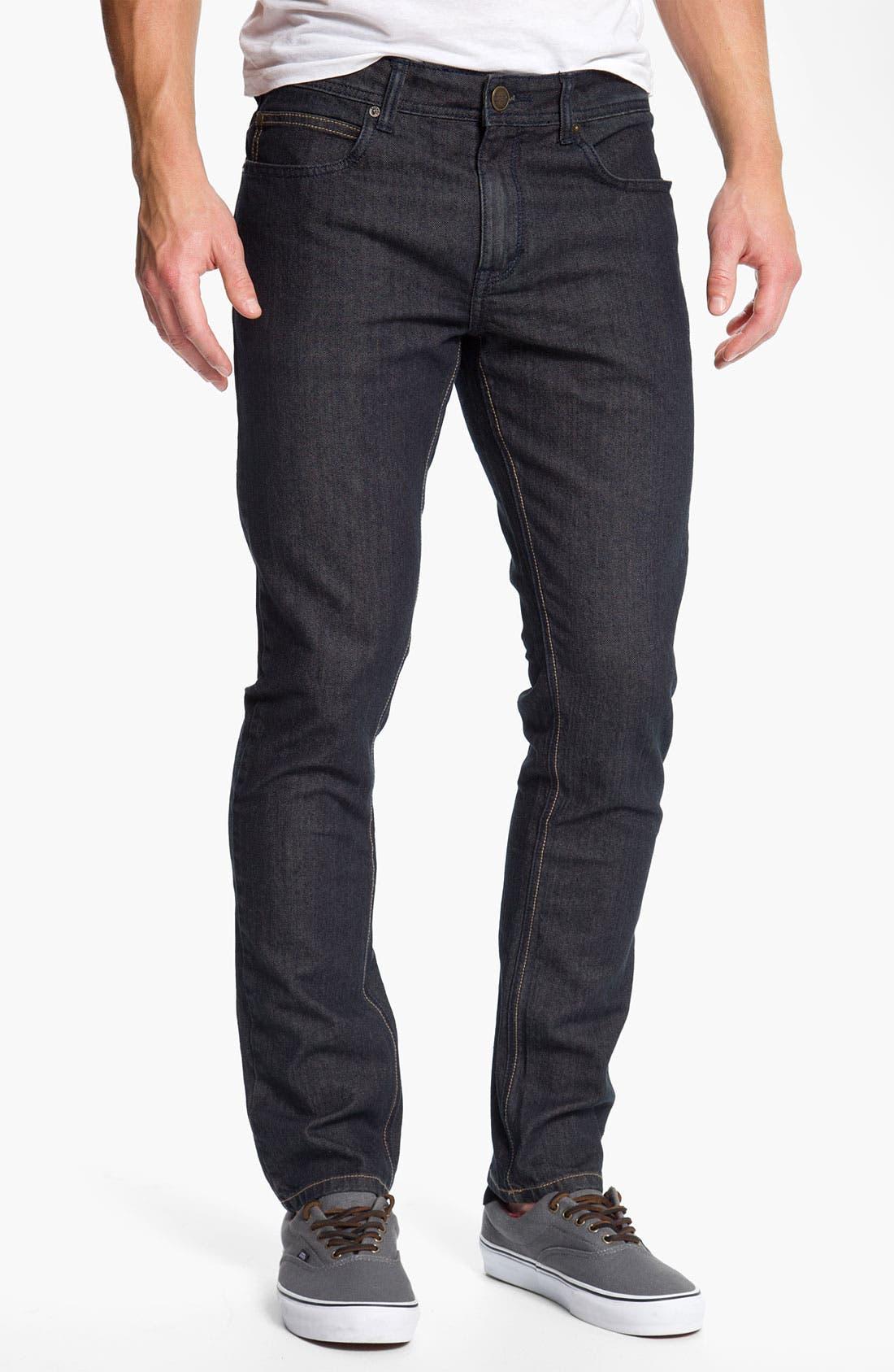 Alternate Image 2  - Ezekiel 'Chopper 305' Slouchy Slim Fit Jeans (Light Raw Indigo)