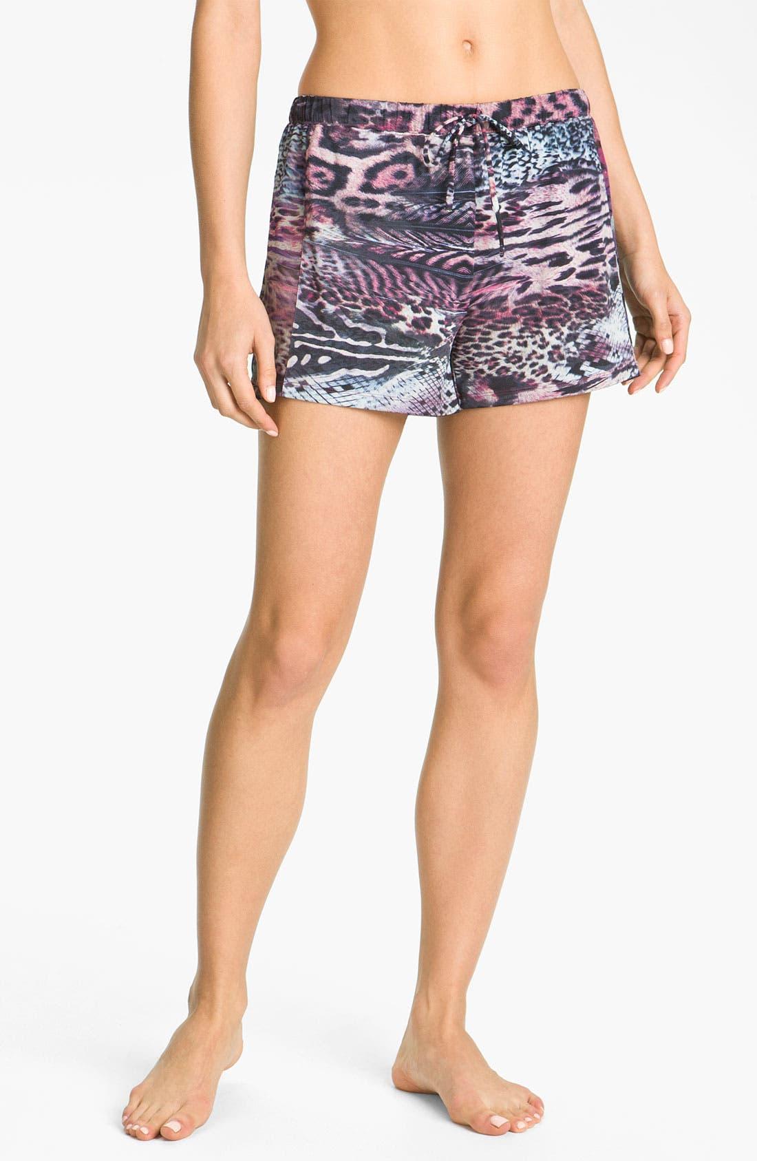 Alternate Image 1 Selected - Nicole Miller 'Wild Animal' Shorts