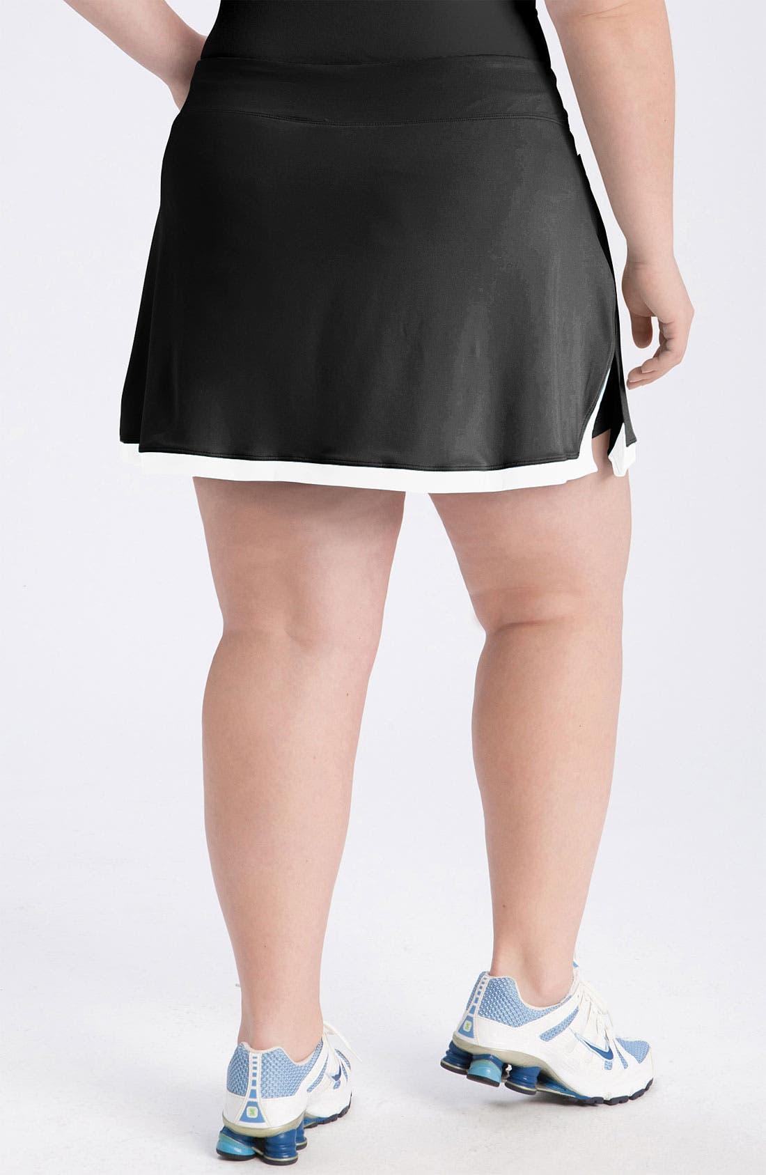 Alternate Image 2  - Nike 'Border' Dri-FIT Tennis Skirt (Plus)