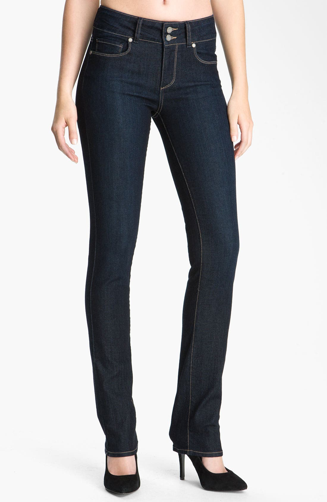 Alternate Image 1  - PAIGE 'Hidden Hills' Straight Leg Stretch Jeans (Fountain)