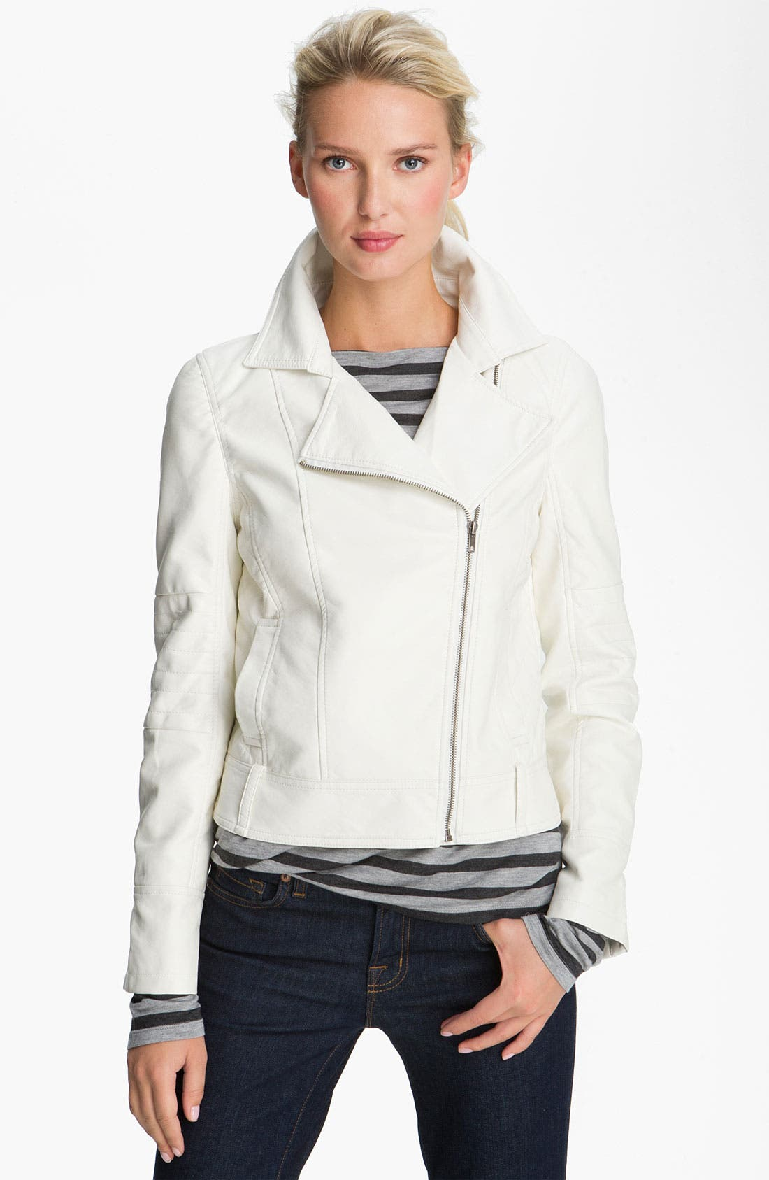 Alternate Image 1 Selected - KUT from the Kloth Asymmetrical Zip Faux Leather Jacket
