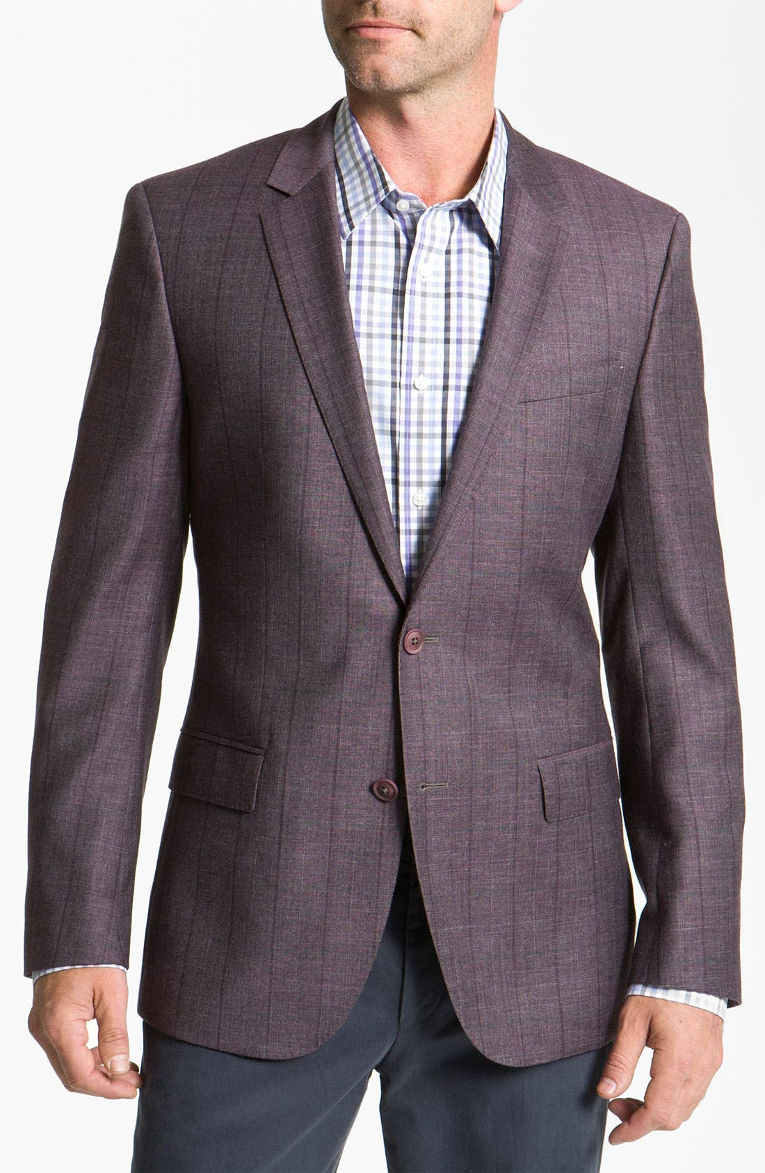 Main Image - BOSS Black 'Hutch' Windowpane Blazer