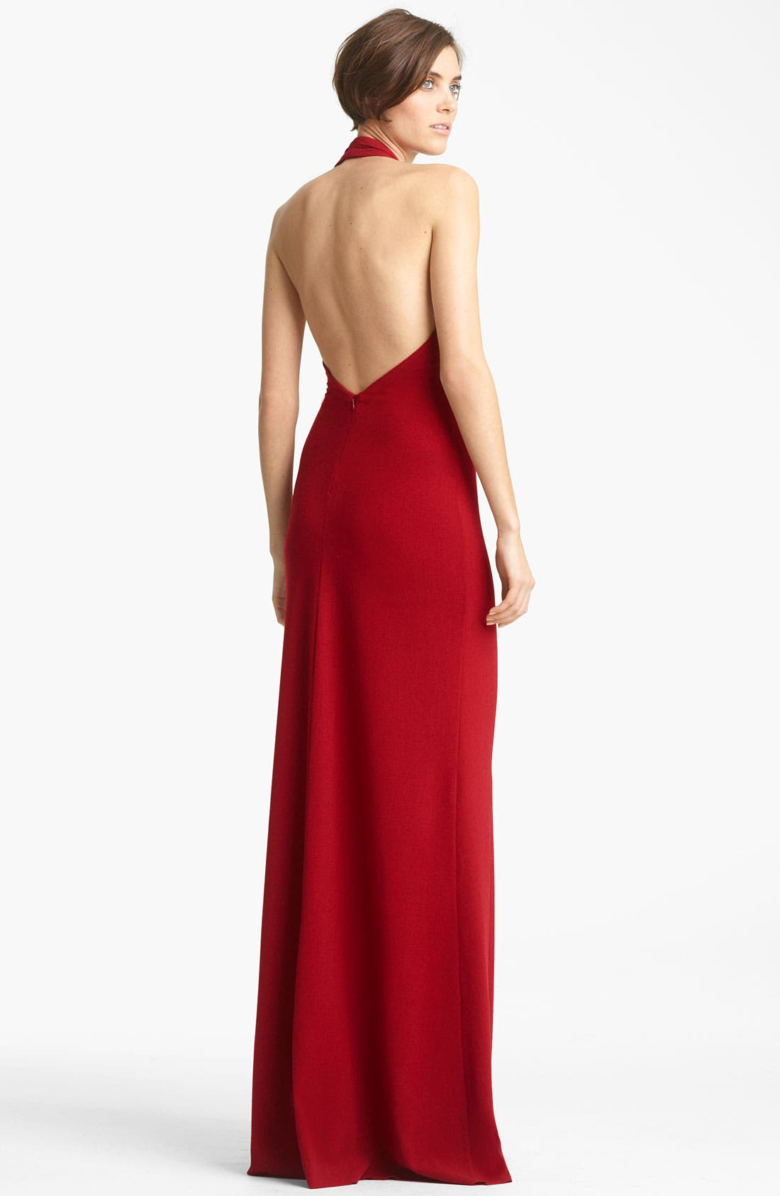 Alternate Image 2  - Yigal Azrouël Crepe Halter Gown