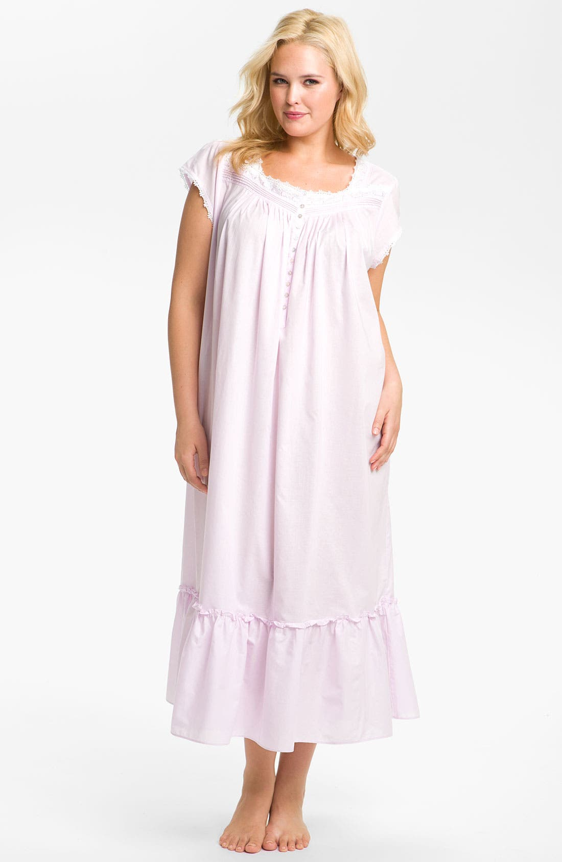 Main Image - Eileen West 'Blossom' Nightgown (Plus)