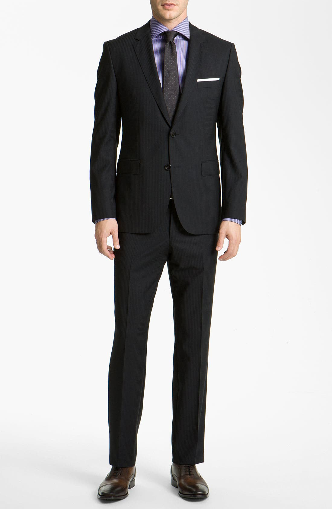 Alternate Image 2  - BOSS Black 'James/Sharp' Trim Fit Stripe Suit