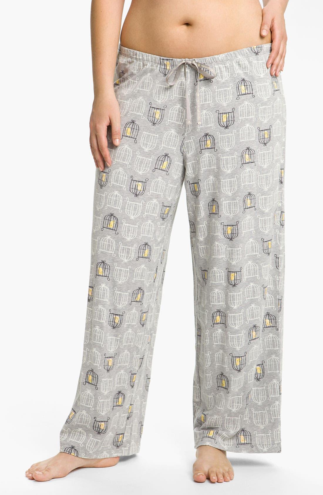Main Image - Hue 'Birdcage' Pajama Pants (Plus)