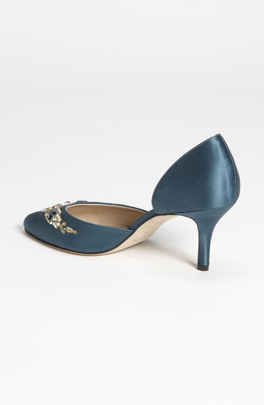 Alternate Image 2  - Oscar de la Renta 'Binato' Beaded Satin d'Orsay Pump