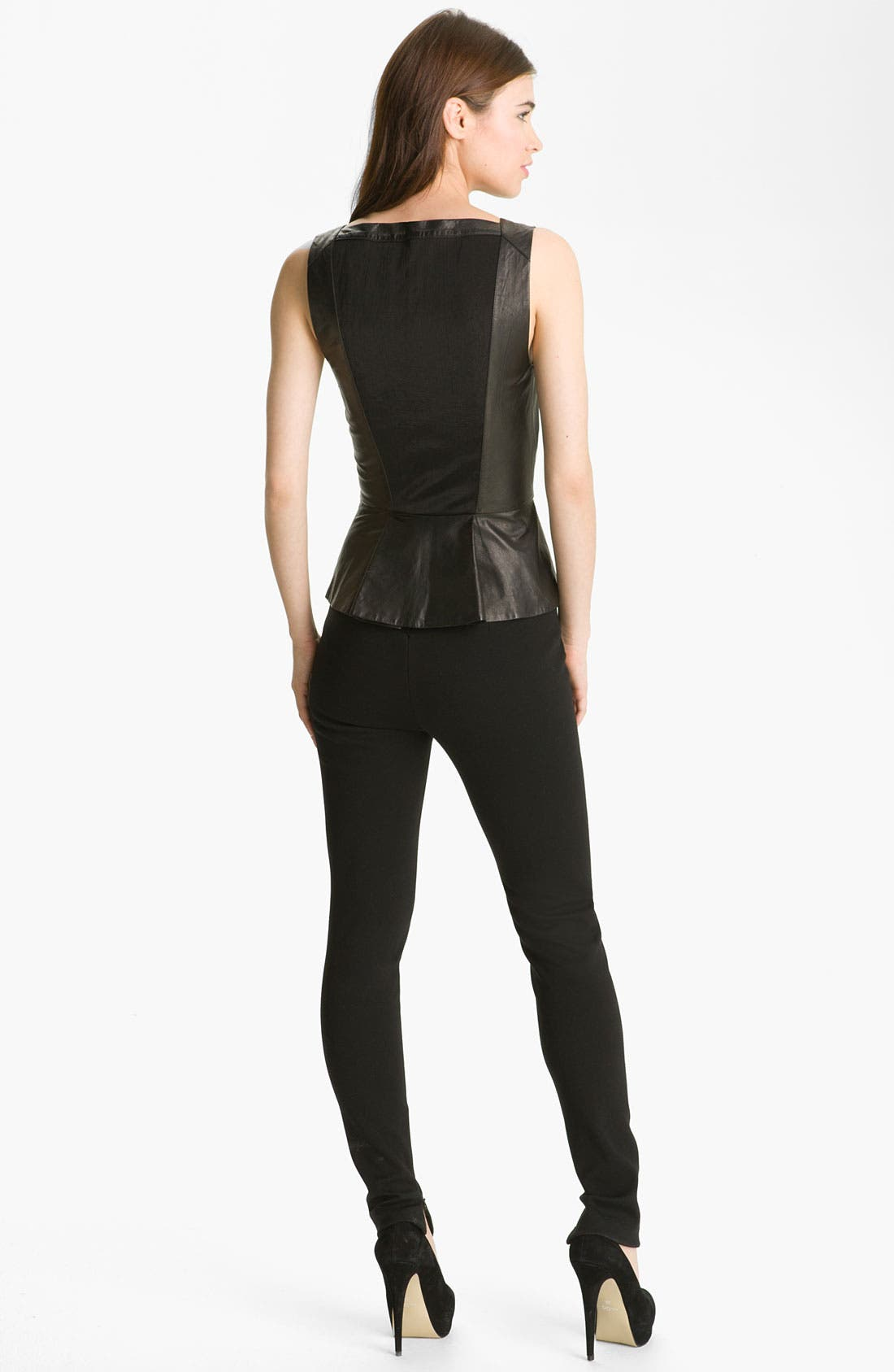 Alternate Image 5  - Robert Rodriguez Leather Peplum Tank