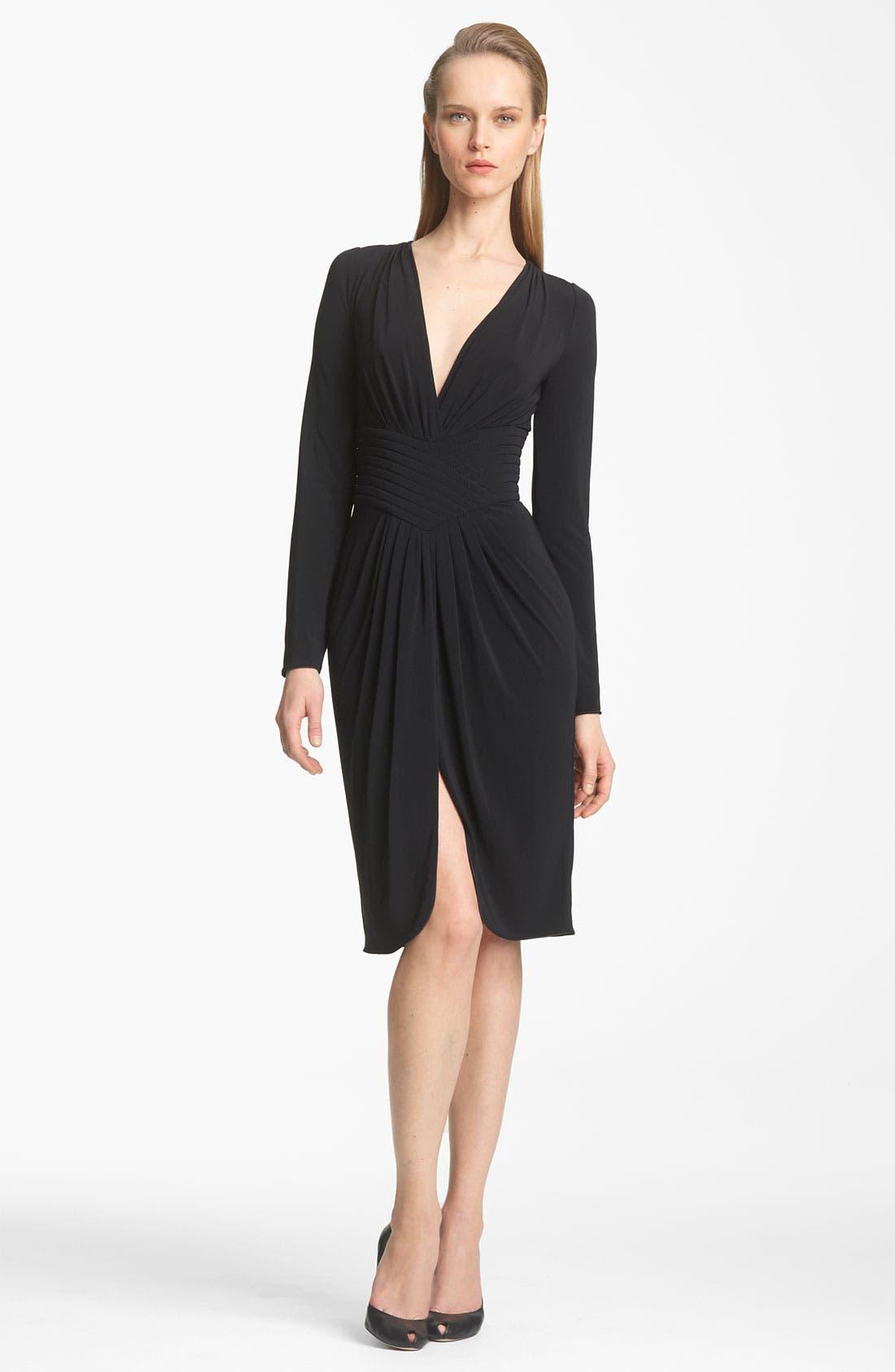 Alternate Image 1 Selected - Armani Collezioni Matte Jersey Dress