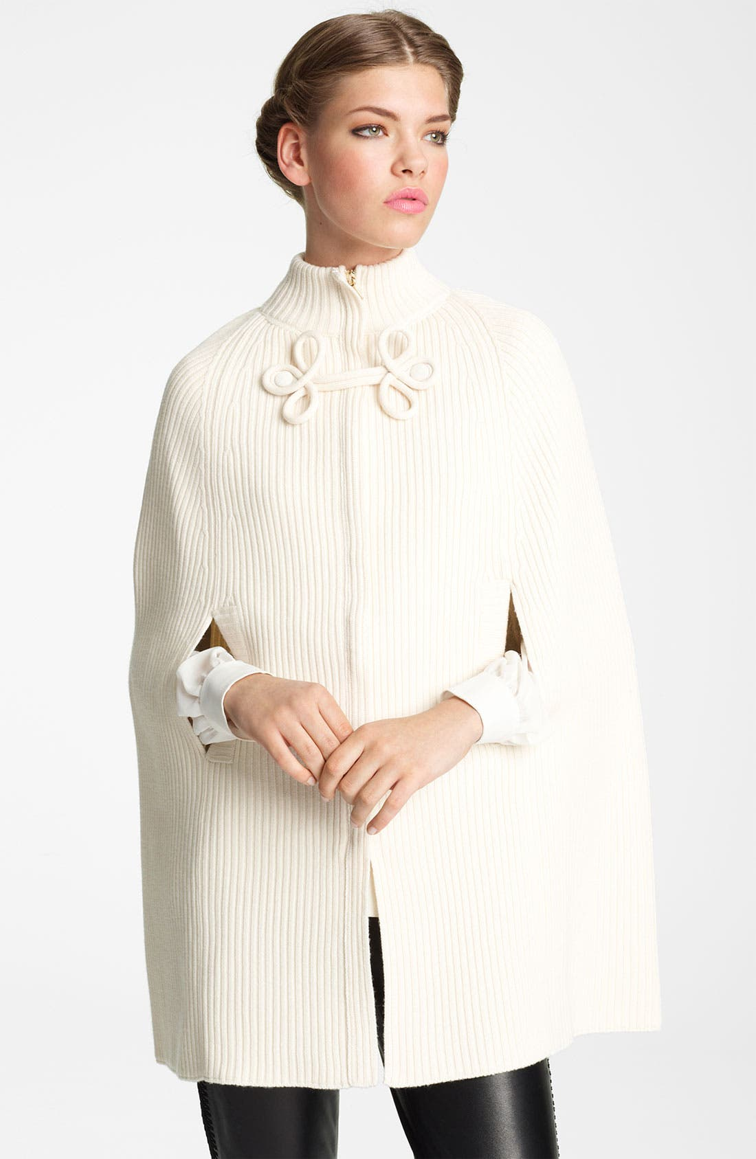 Main Image - Valentino Zip Front Wool Cape