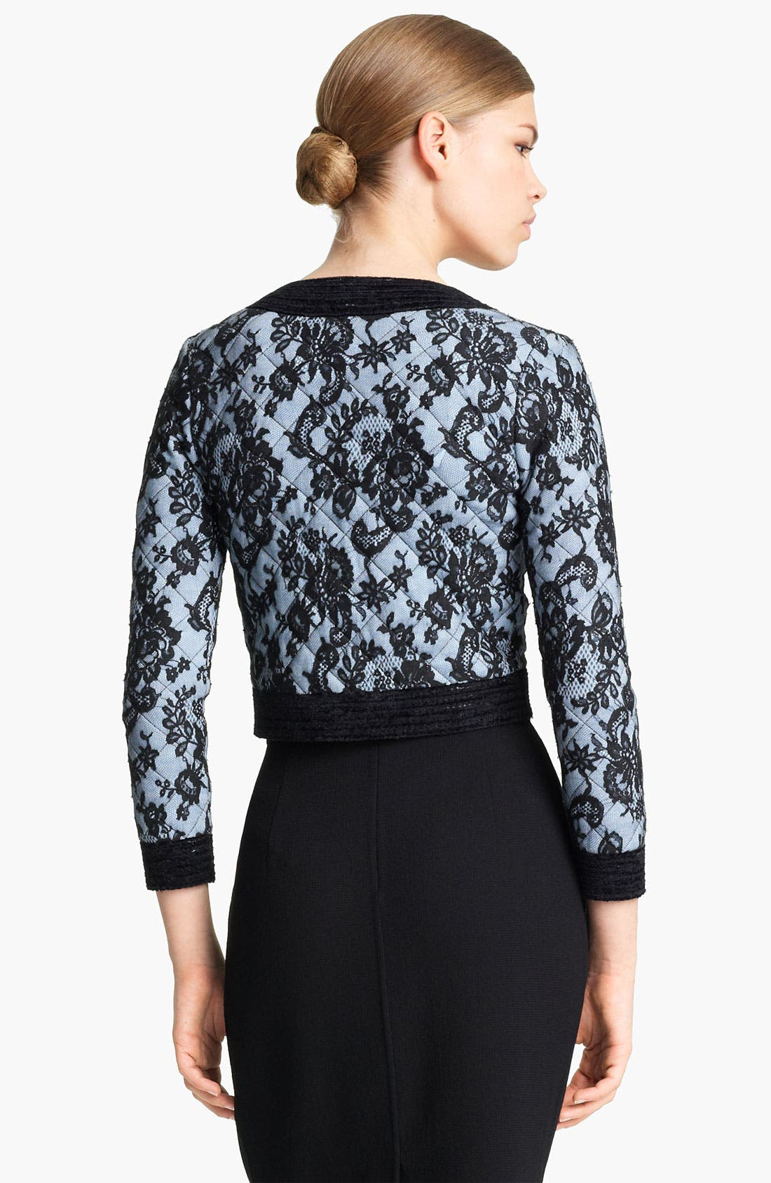 Alternate Image 2  - Oscar de la Renta Quilted Lace Jacket