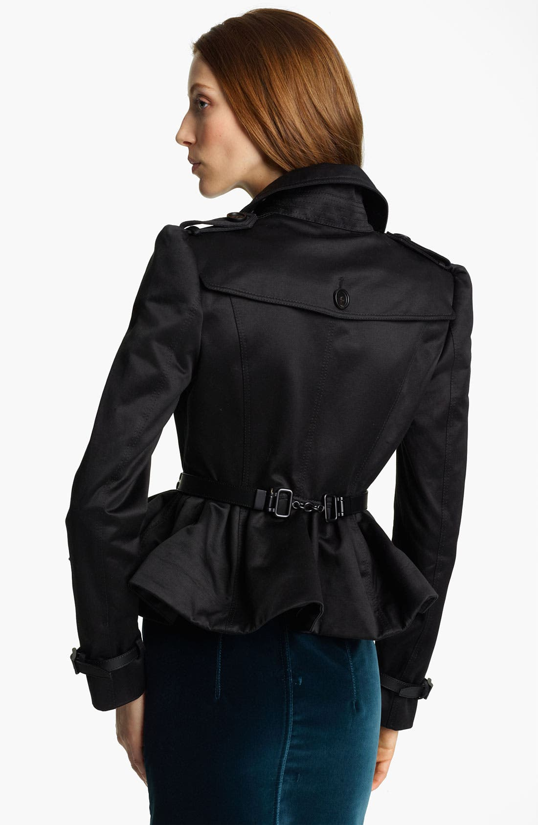 Alternate Image 2  - Burberry Prorsum Peplum Crop Jacket