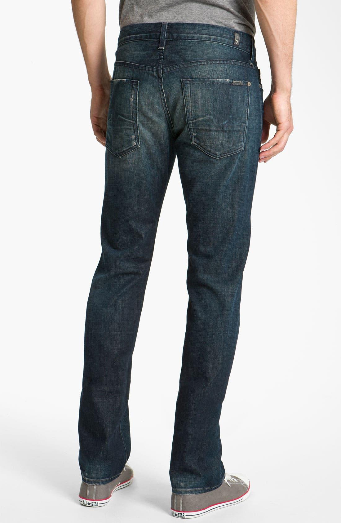 Main Image - 7 For All Mankind® Standard Straight Leg Jeans (Cedar Street)