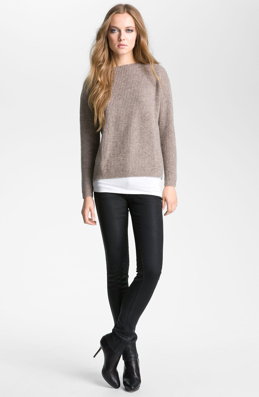 Alternate Image 1 Selected - autumn cashmere Ribbed Pullover Sweater