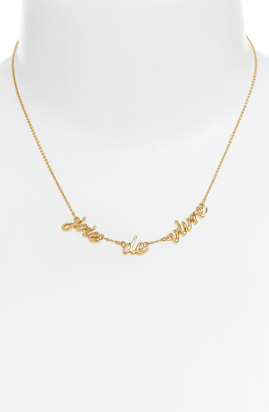 Alternate Image 1 Selected - kate spade 'say yes' station necklace