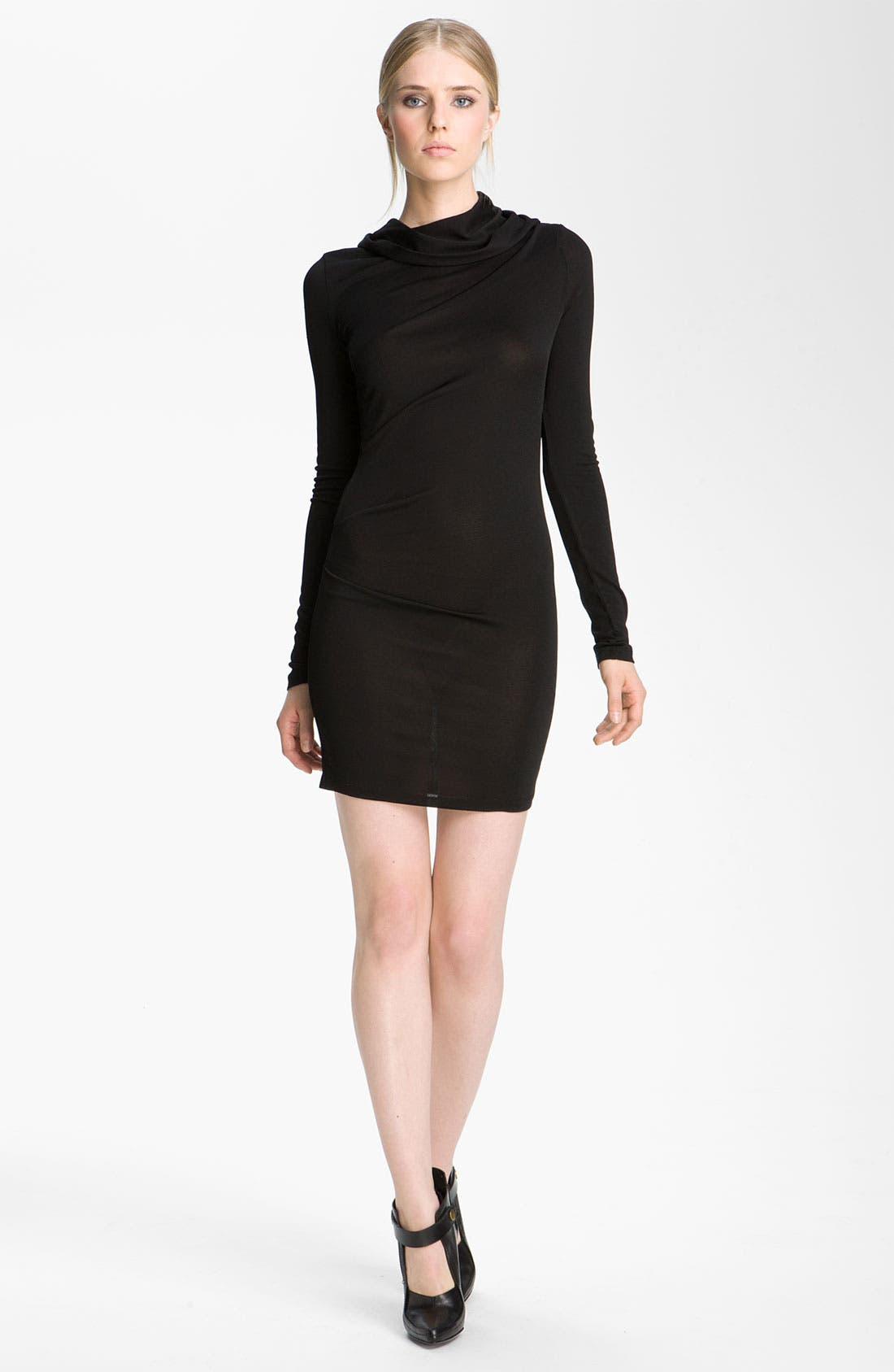 Alternate Image 1 Selected - T by Alexander Wang Hooded Drape Dress