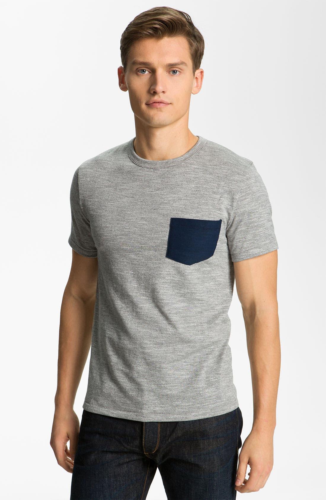 Alternate Image 1 Selected - rag & bone Pocket Crewneck T-Shirt